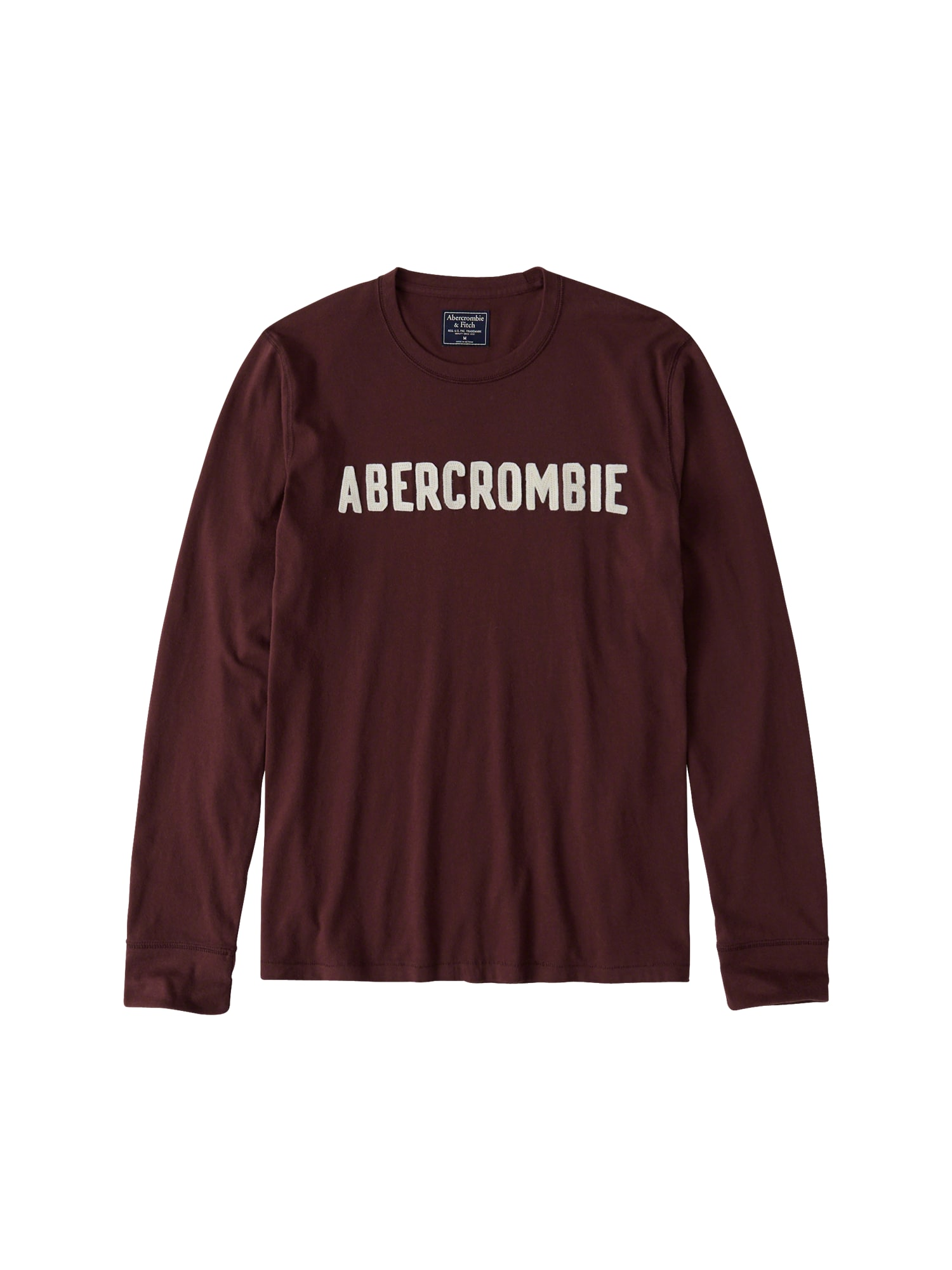 Tričko GLBL DTC LS TECH burgundská červeň Abercrombie & Fitch
