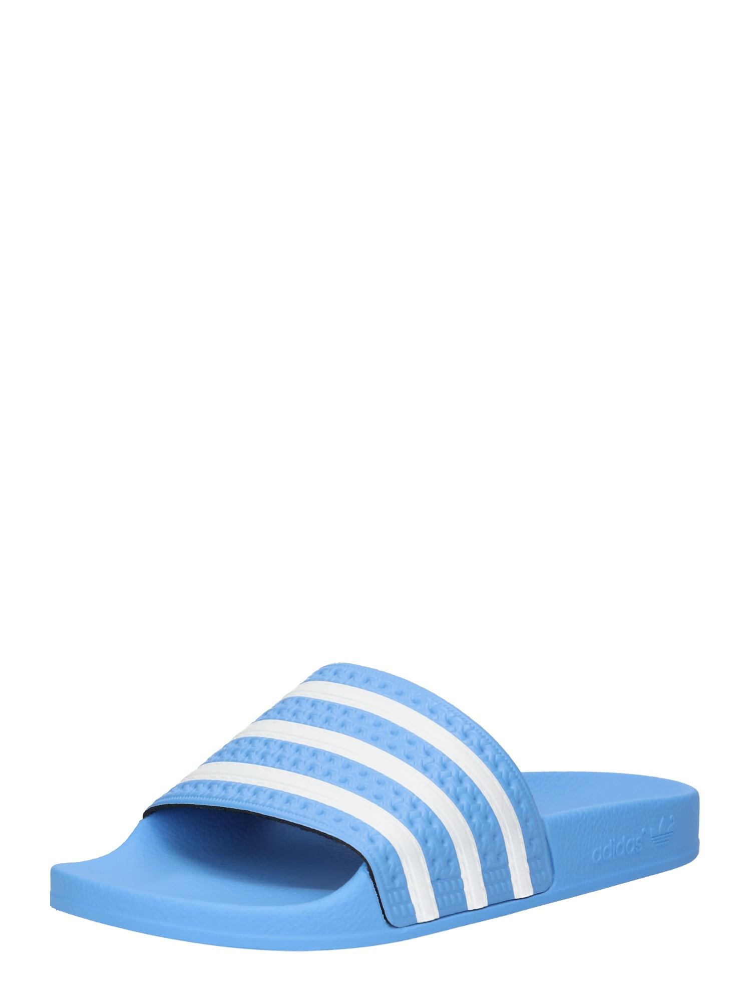 Plážovákoupací obuv světlemodrá bílá ADIDAS ORIGINALS