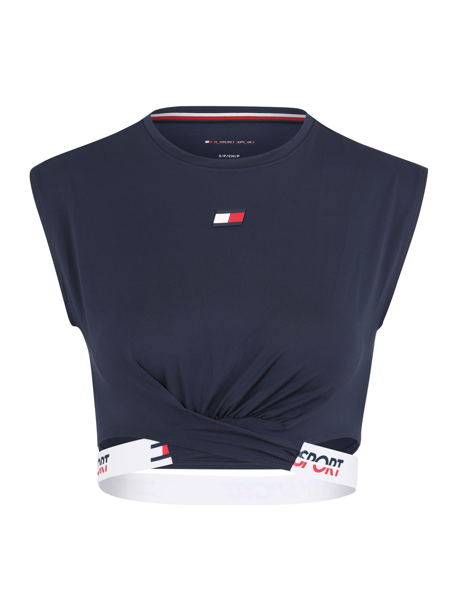 Sportovní top námořnická modř červená bílá Tommy Sport