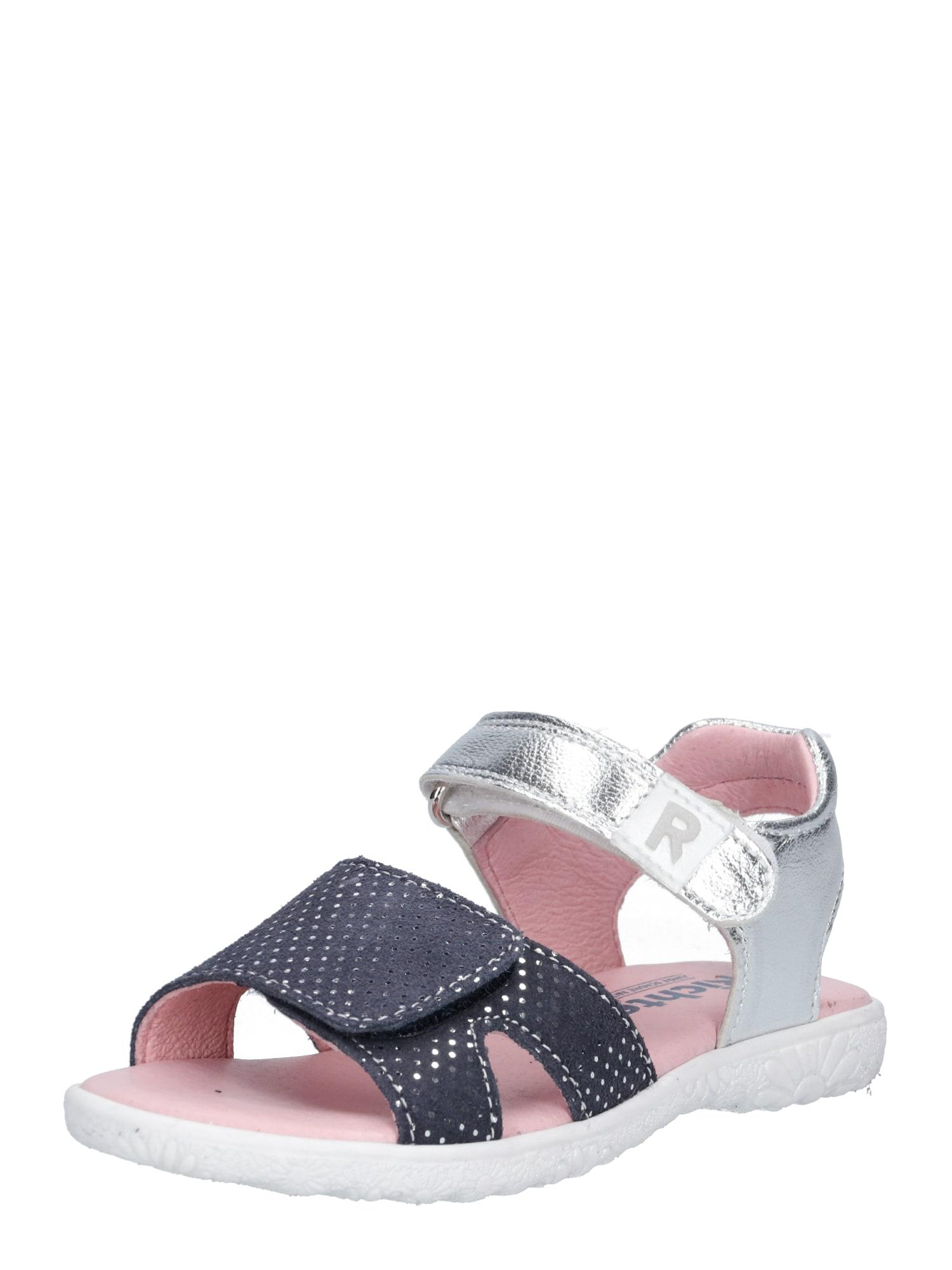 Sandály noční modrá stříbrná RICHTER