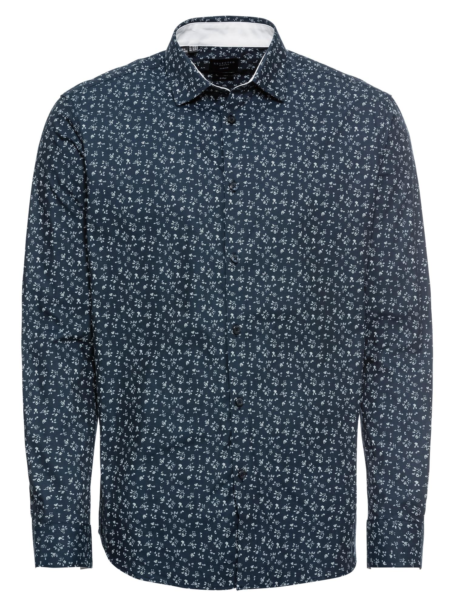Košile SHDONENEW-MARK tmavě modrá SELECTED HOMME
