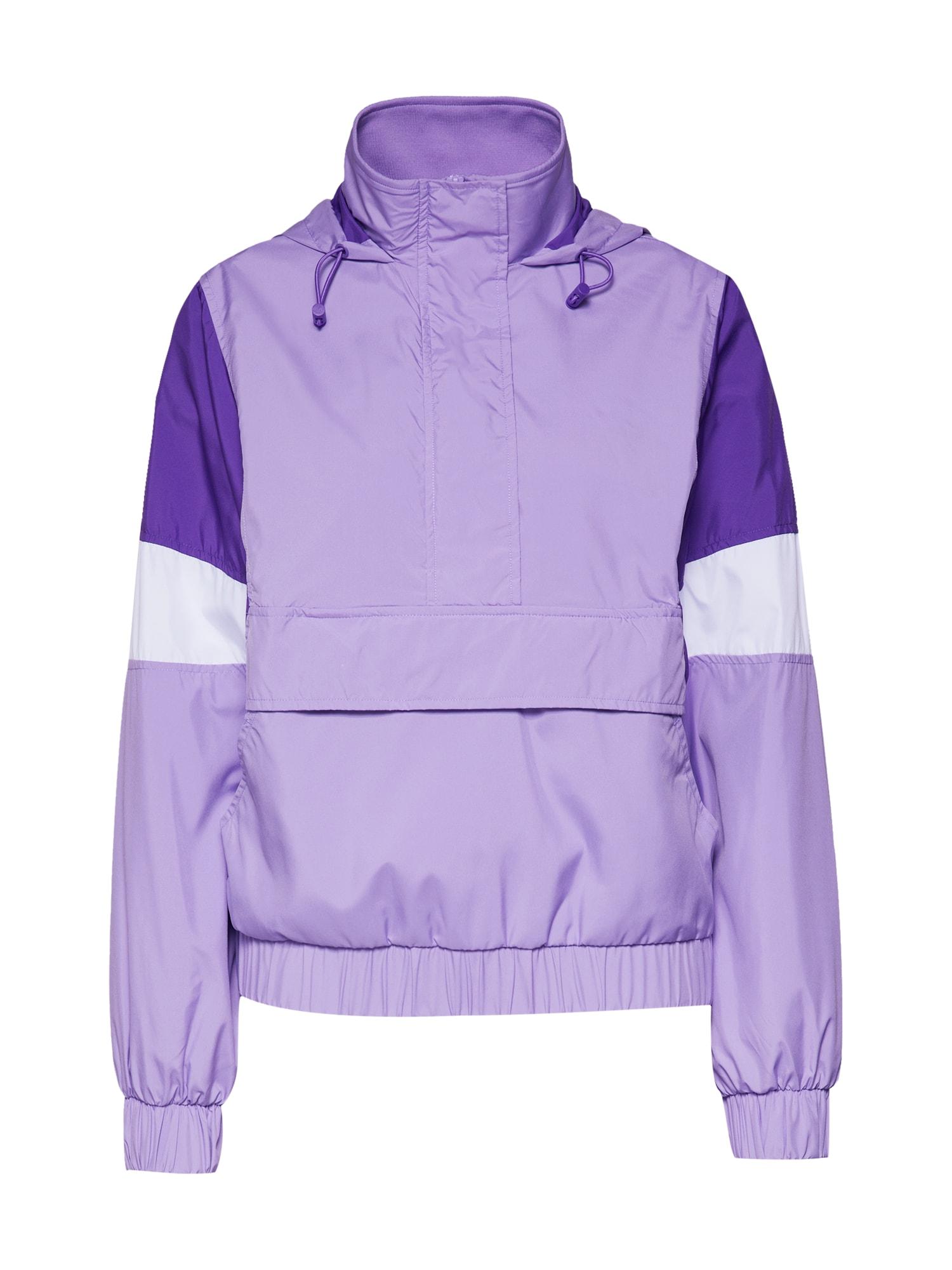 Přechodná bunda světle fialová tmavě fialová bílá Urban Classics
