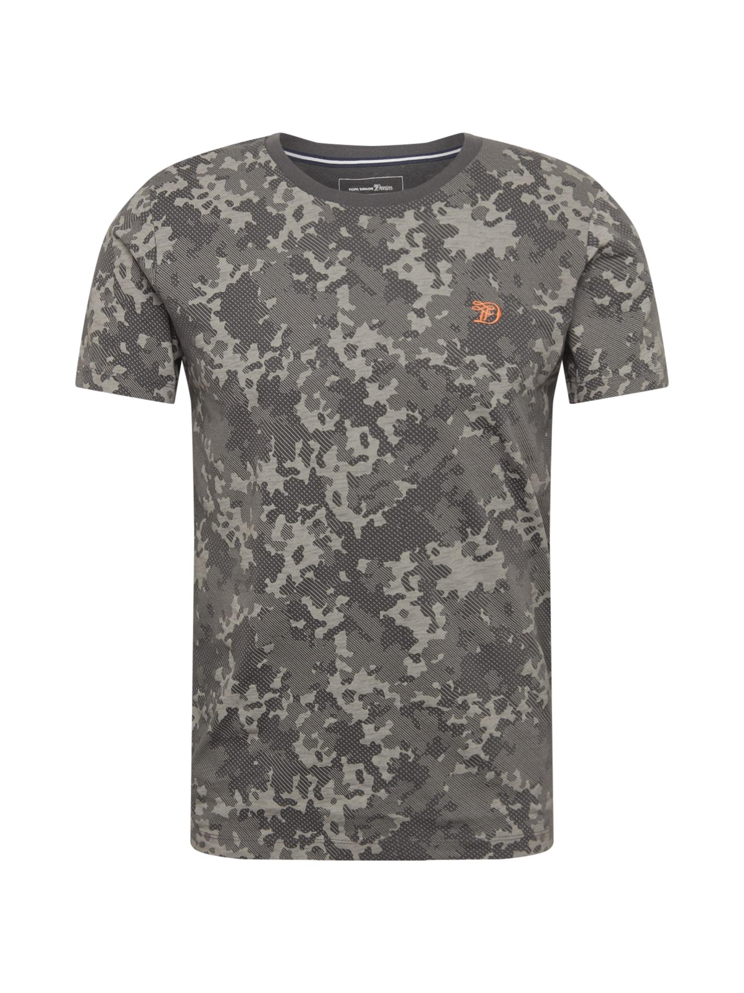 Tričko šedá khaki TOM TAILOR DENIM