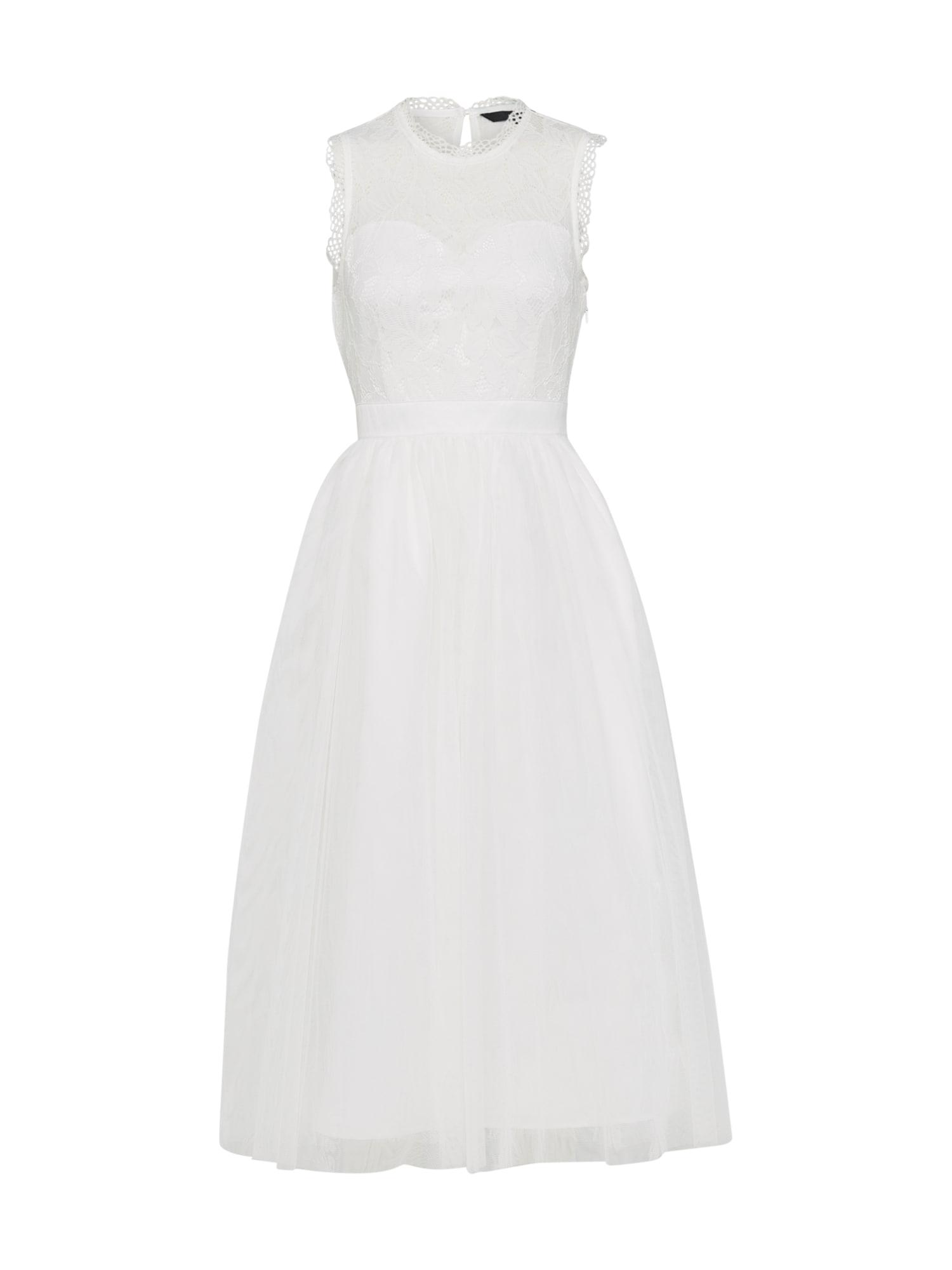 Společenské šaty ACACIA bílá VERO MODA