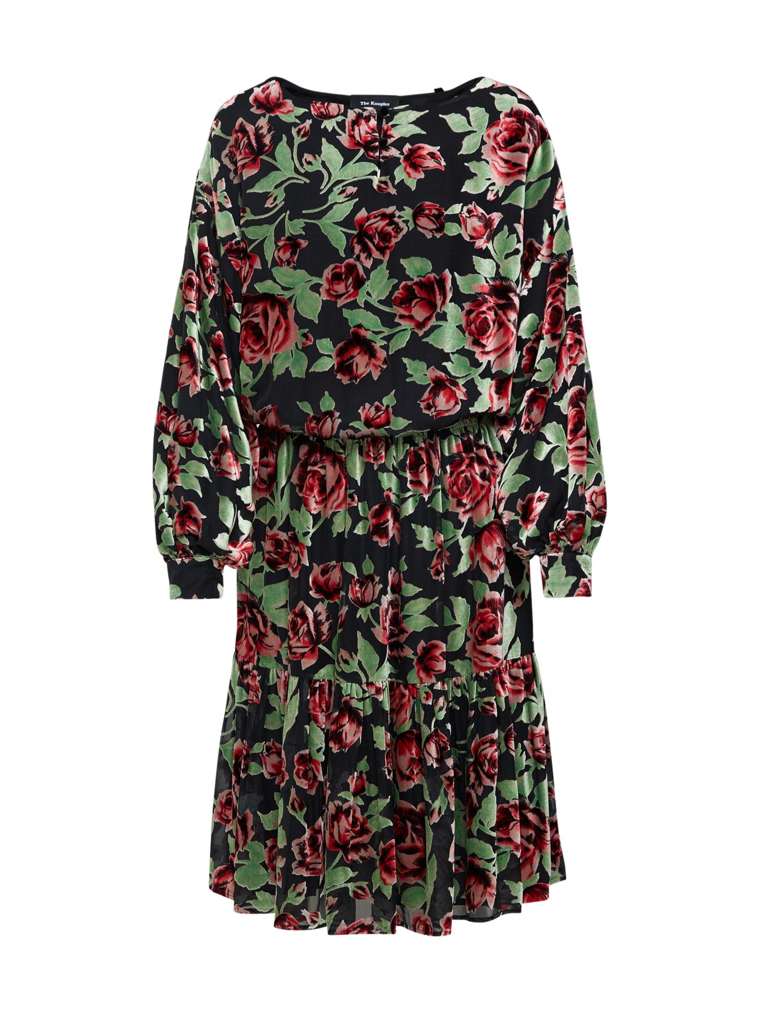 Šaty světle zelená karmínově červené The Kooples