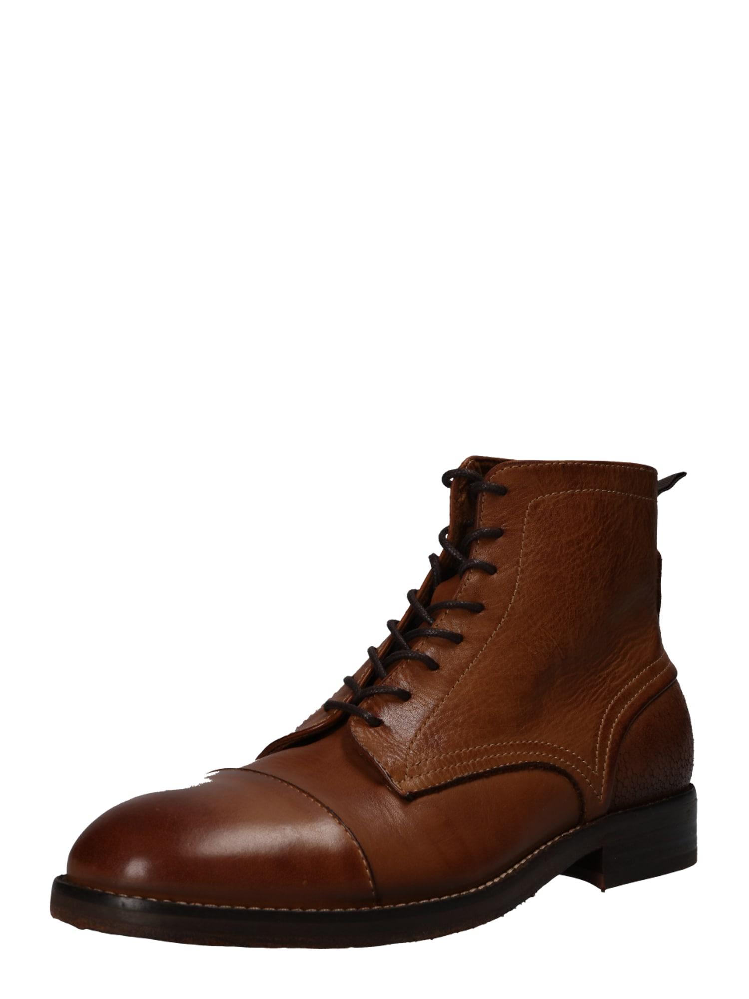 Šněrovací boty palmer drum dye karamelová Hudson London