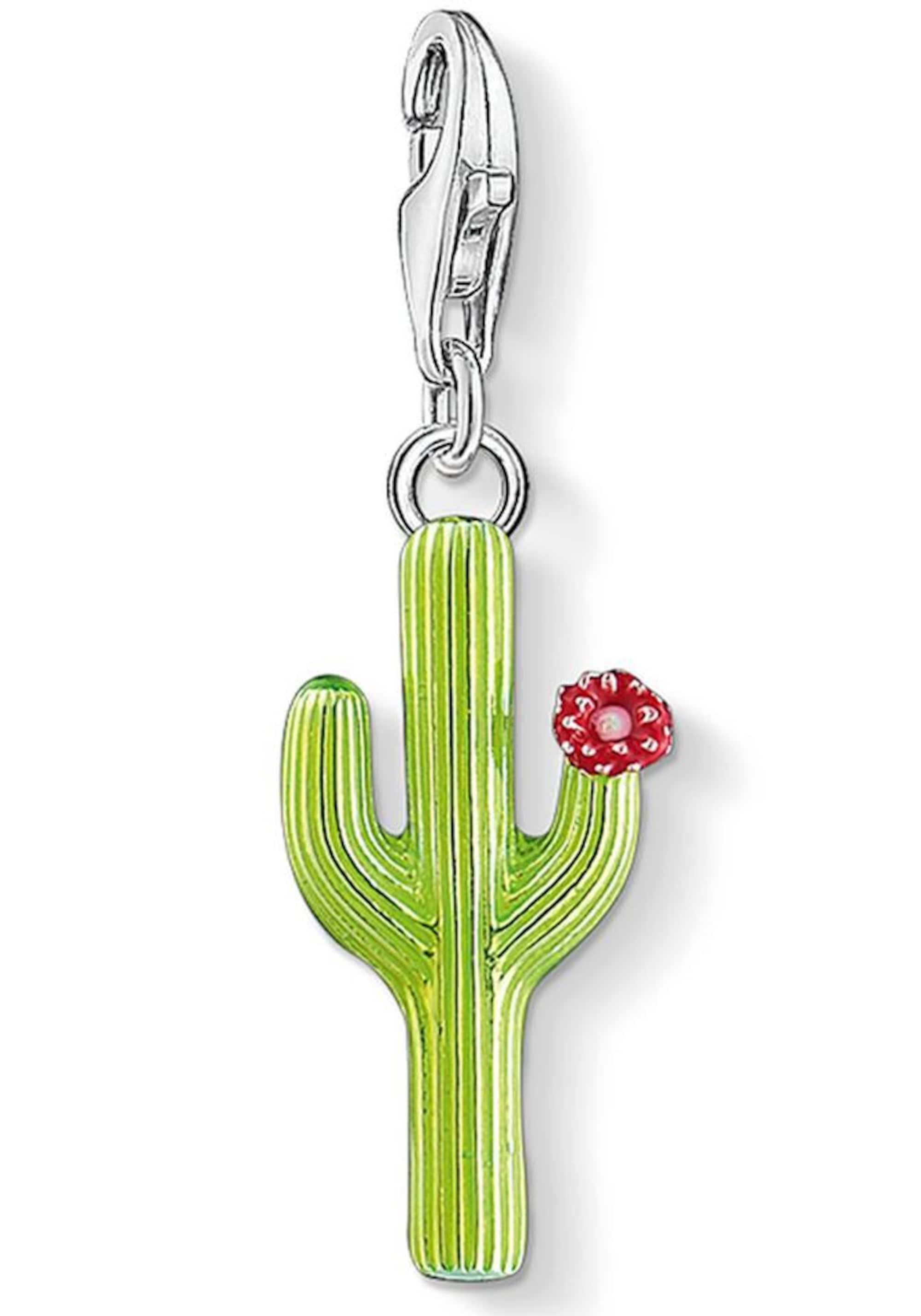 Charm-Einhänger ´Grüner Kaktus mit Blüte, 1437-...