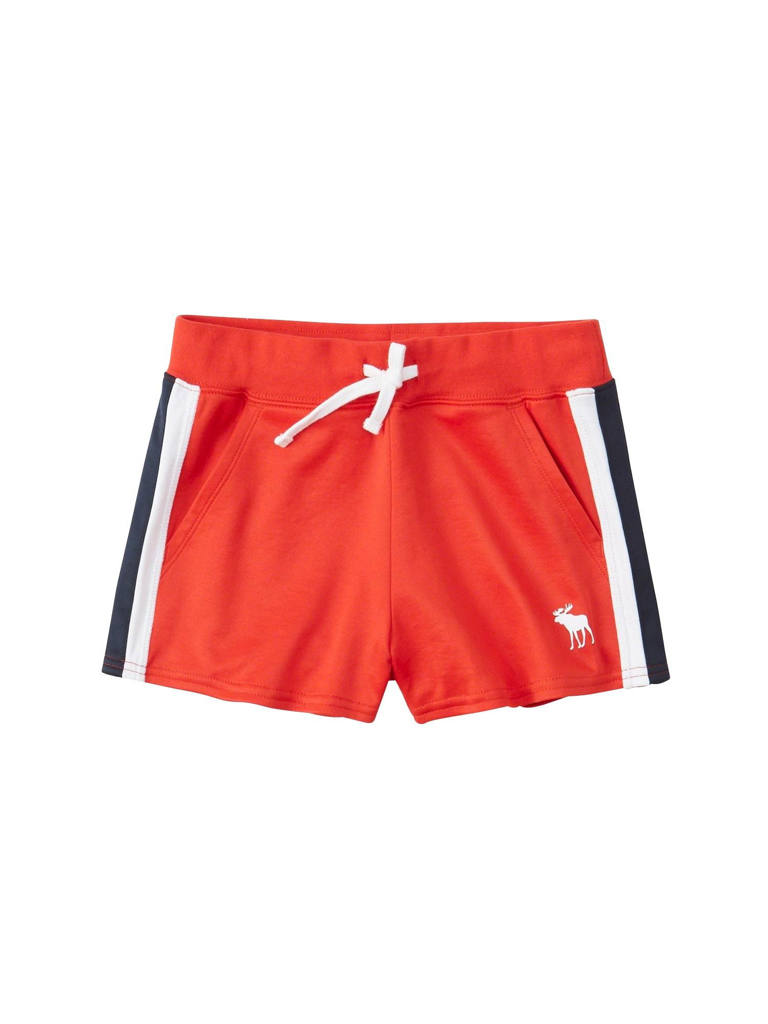 Kalhoty SB19-F2 T1 SPORTY SIDE STRIPE SHORT 2CC červená Abercrombie & Fitch