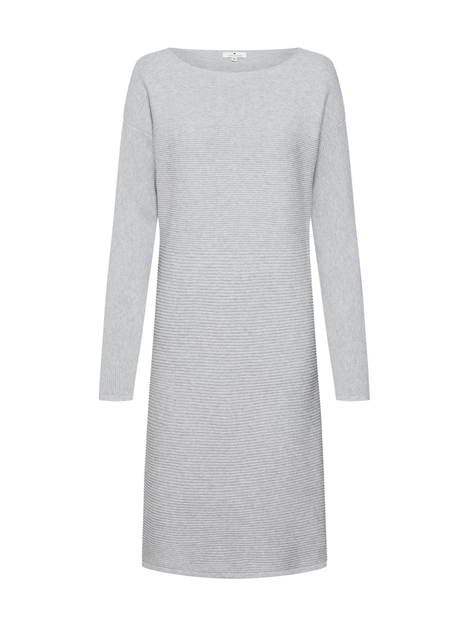 Šaty stříbrně šedá šedý melír TOM TAILOR