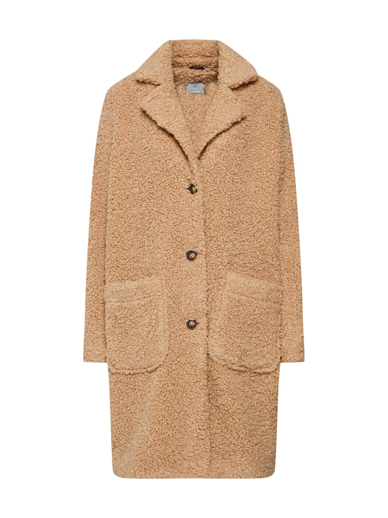 Zimní kabát Balma Teddy velbloudí Kaffe