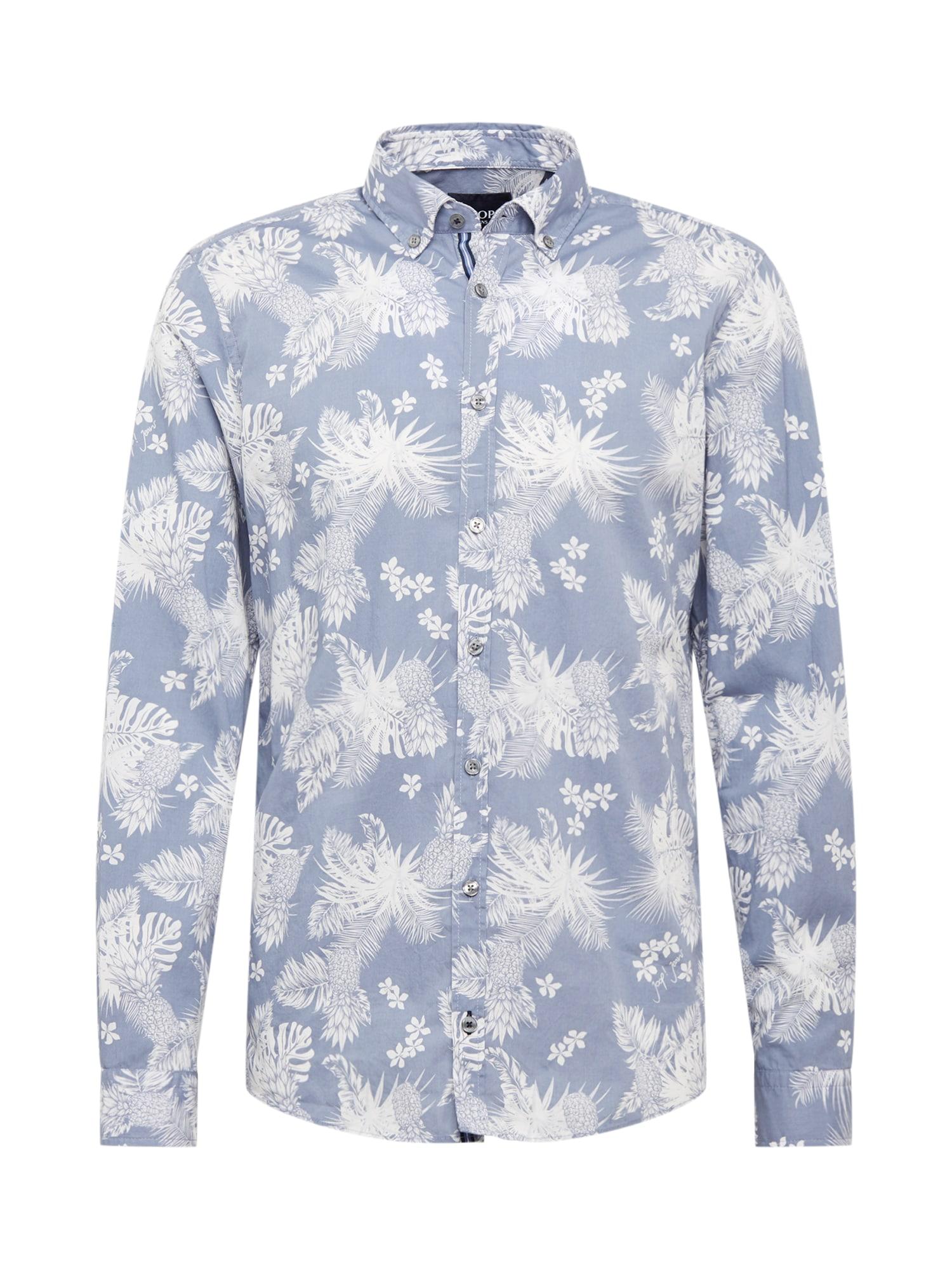 JOOP! Jeans Košile '15 JJSH-40Haven-W'  bílá / modrá