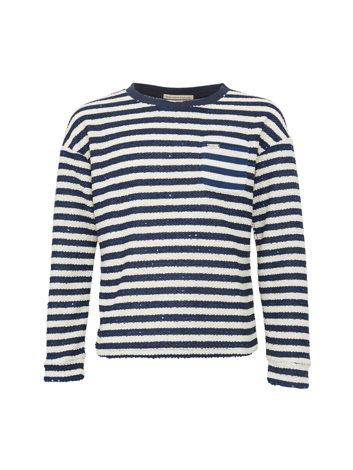 Pepe Jeans Meisjes Sweatshirt BARBARA JR donkerblauw wit