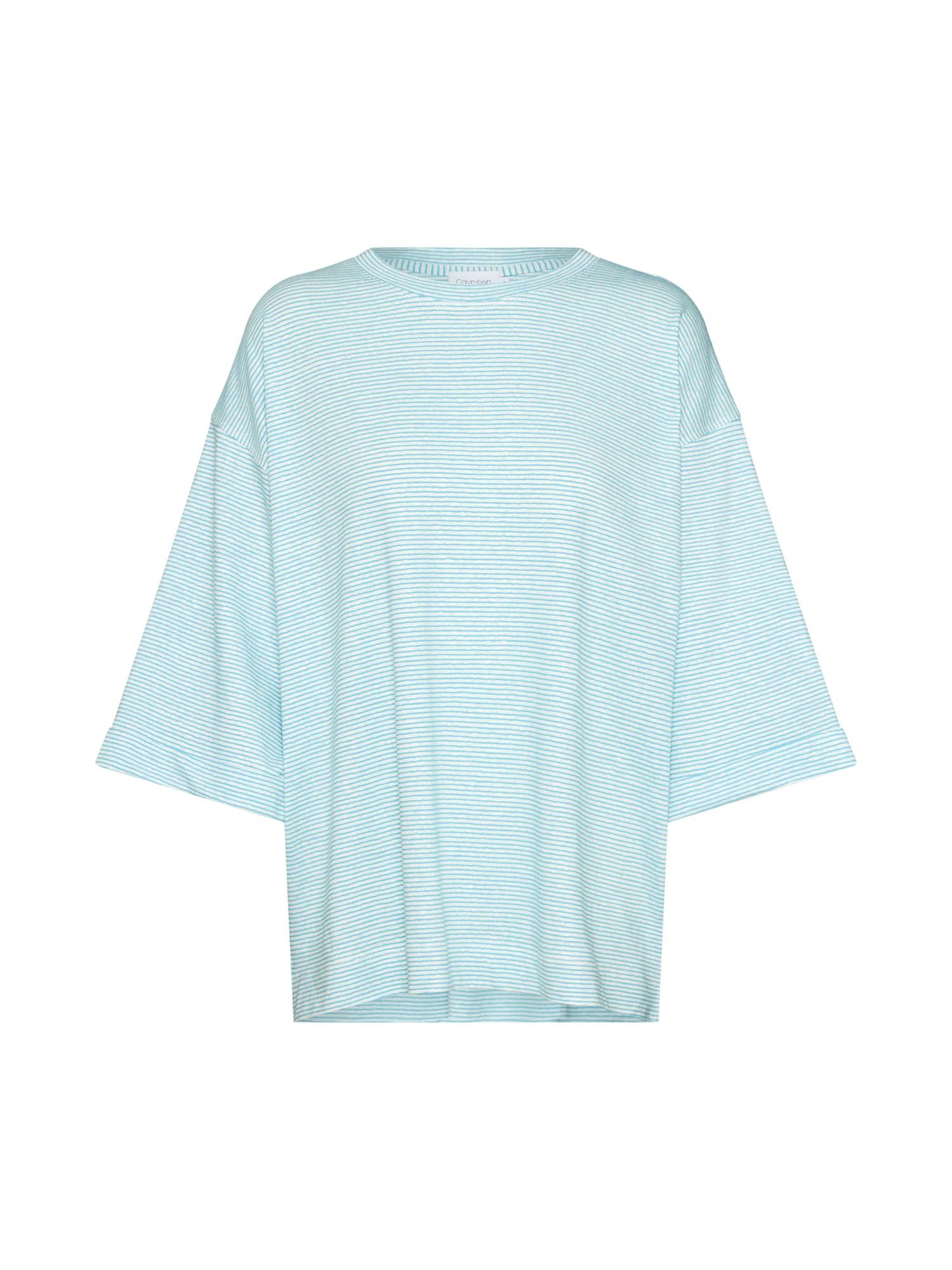 Tričko azurová Calvin Klein