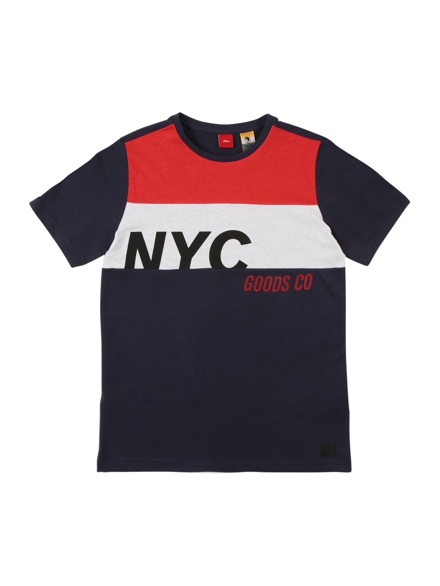 Tričko námořnická modř světle červená bílá S.Oliver Junior