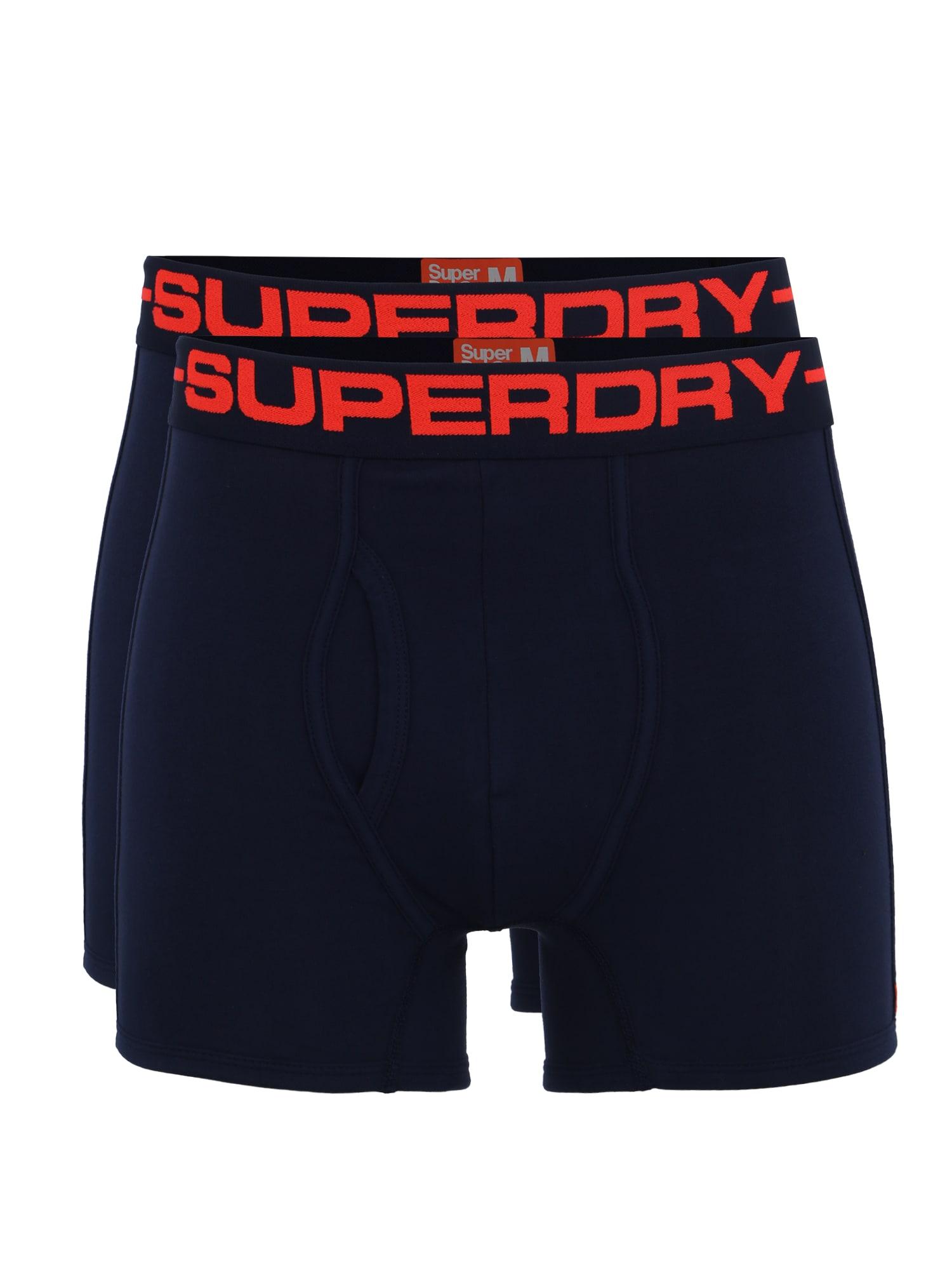 Boxerky námořnická modř červená Superdry