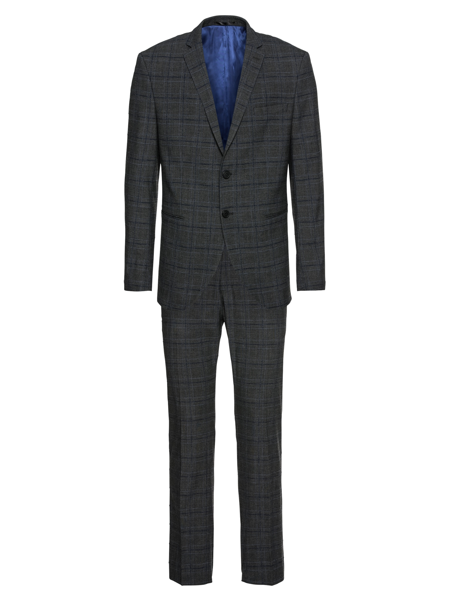 Oblek SLHSLIM-CELLOGAN GREY CHECK SUIT B šedá SELECTED HOMME