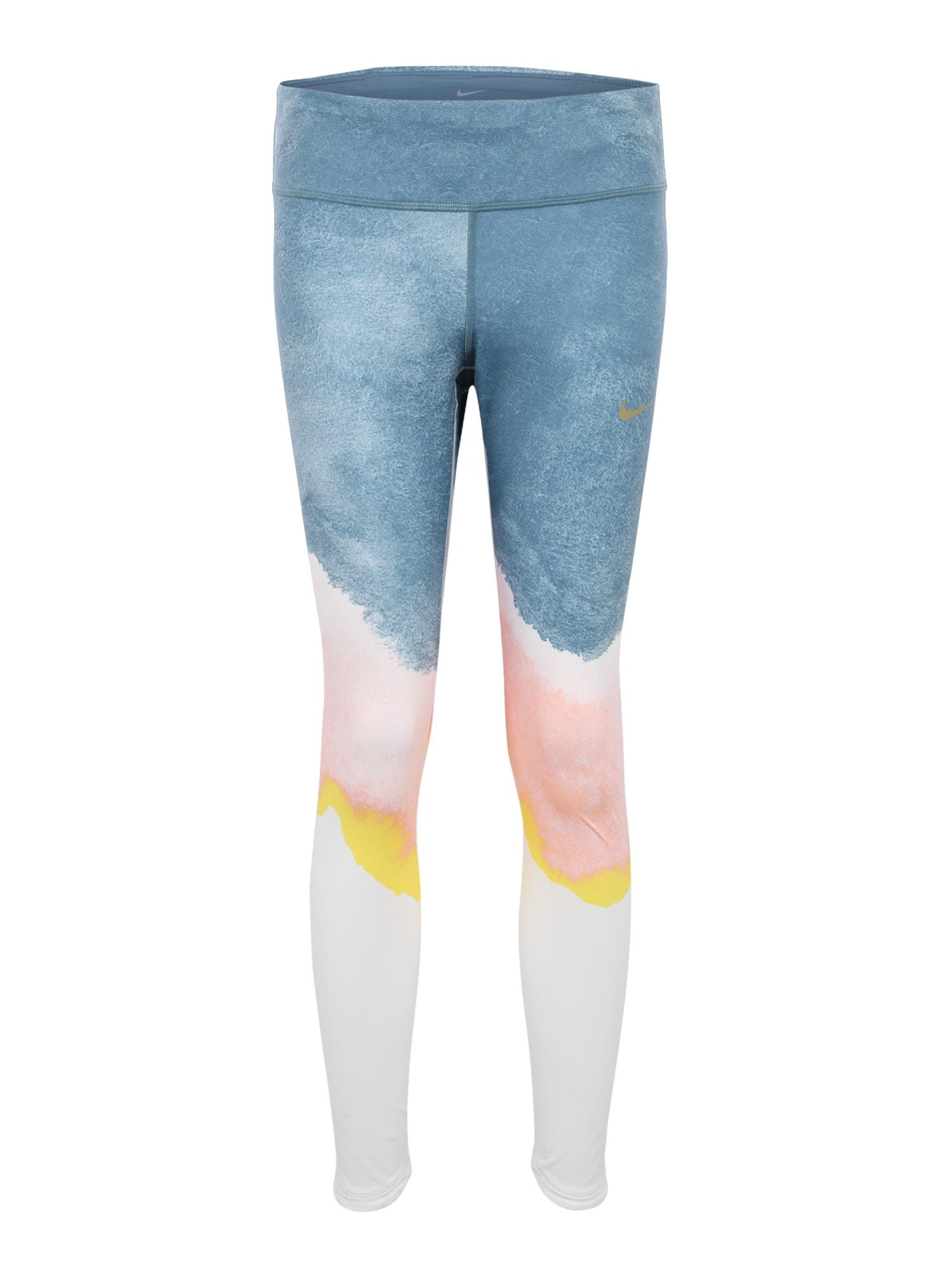 Sportovní kalhoty EPIC LOU modrá růžová bílá NIKE