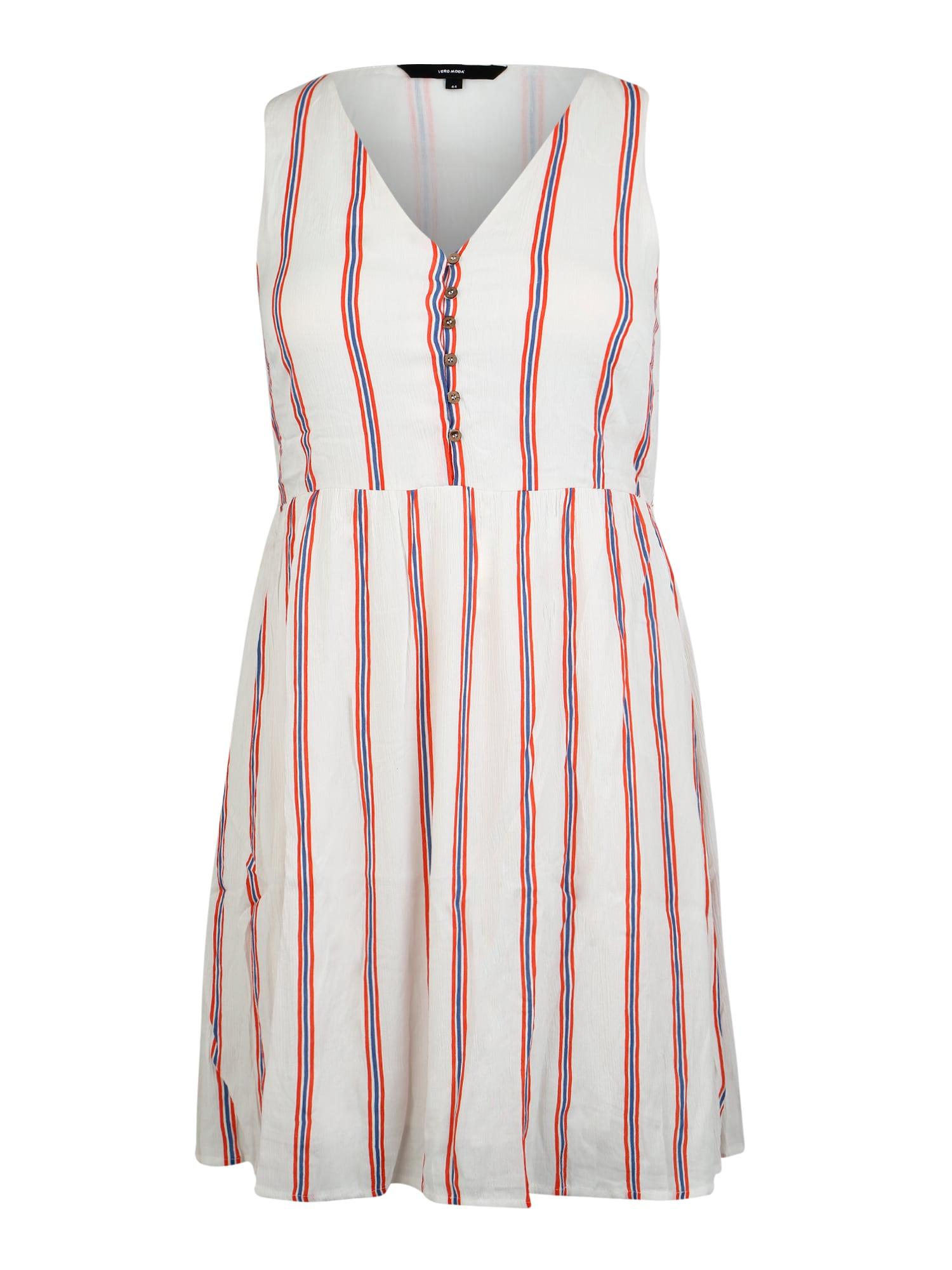 Letní šaty mix barev bílá Vero Moda Curve