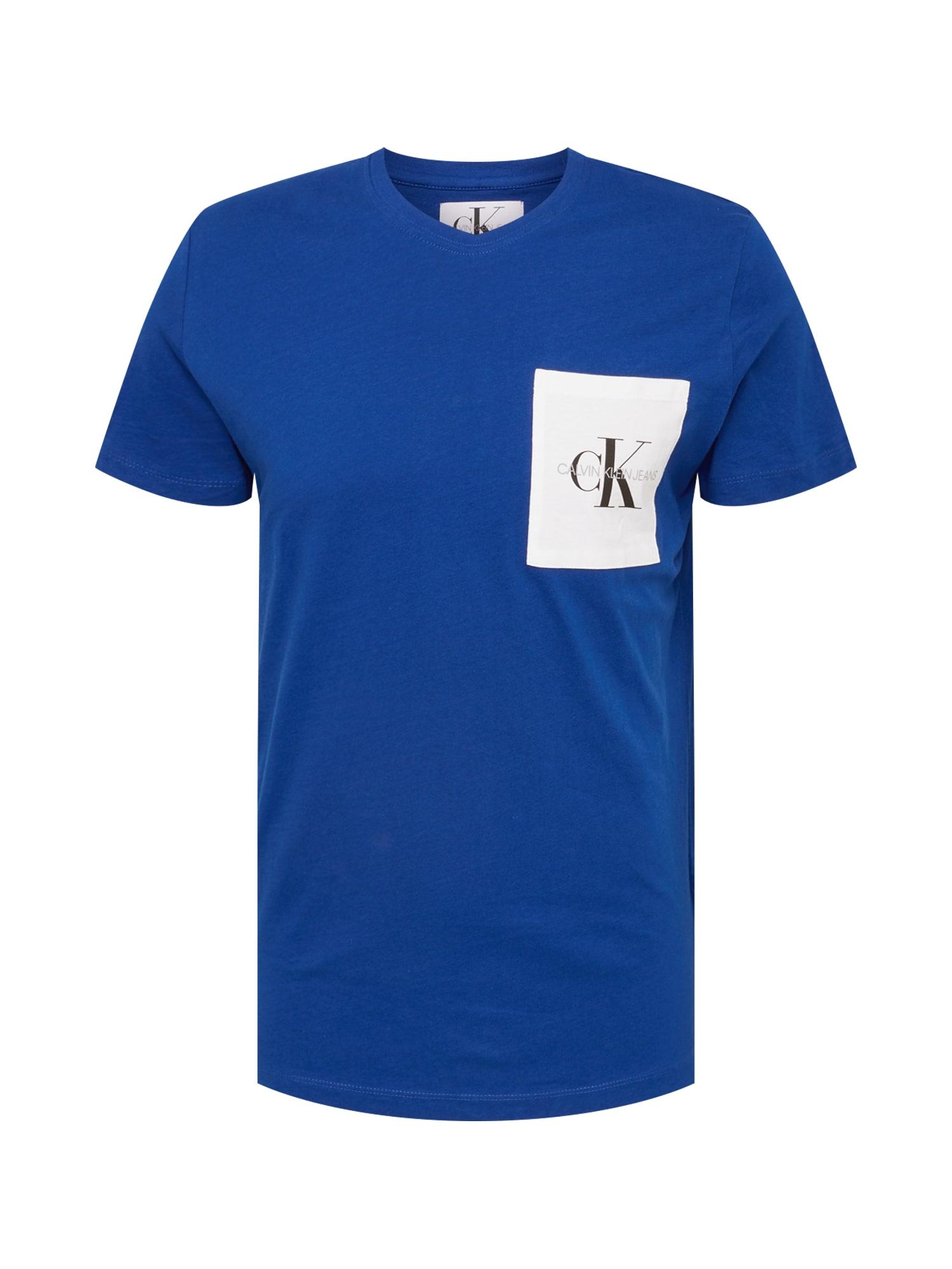 Tričko královská modrá Calvin Klein Jeans