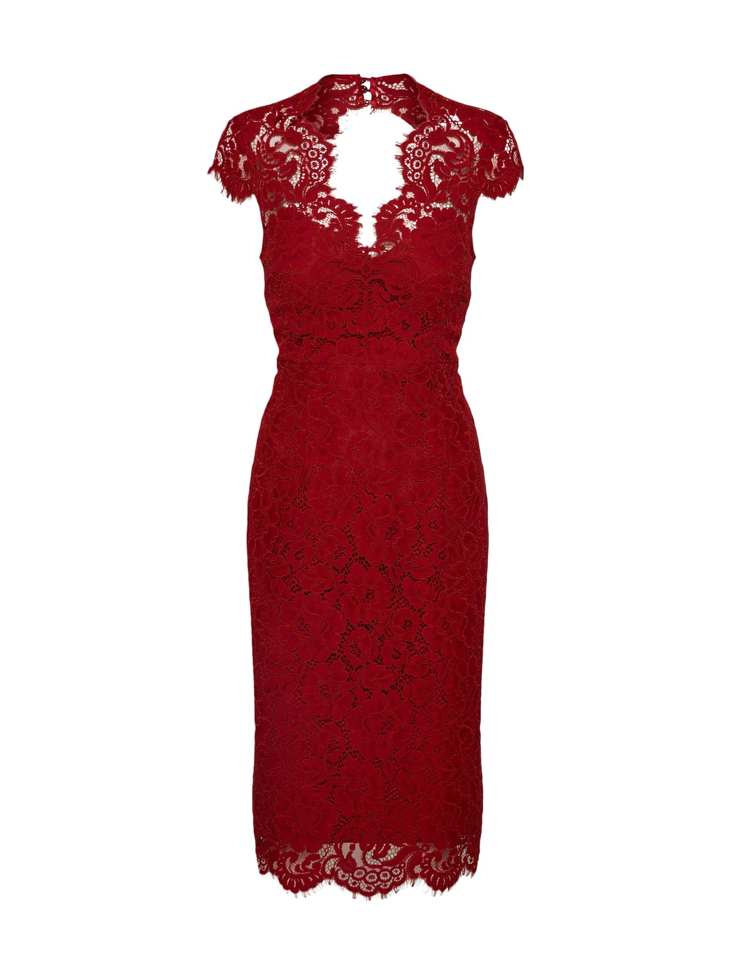 Koktejlové šaty ohnivá červená IVY & OAK