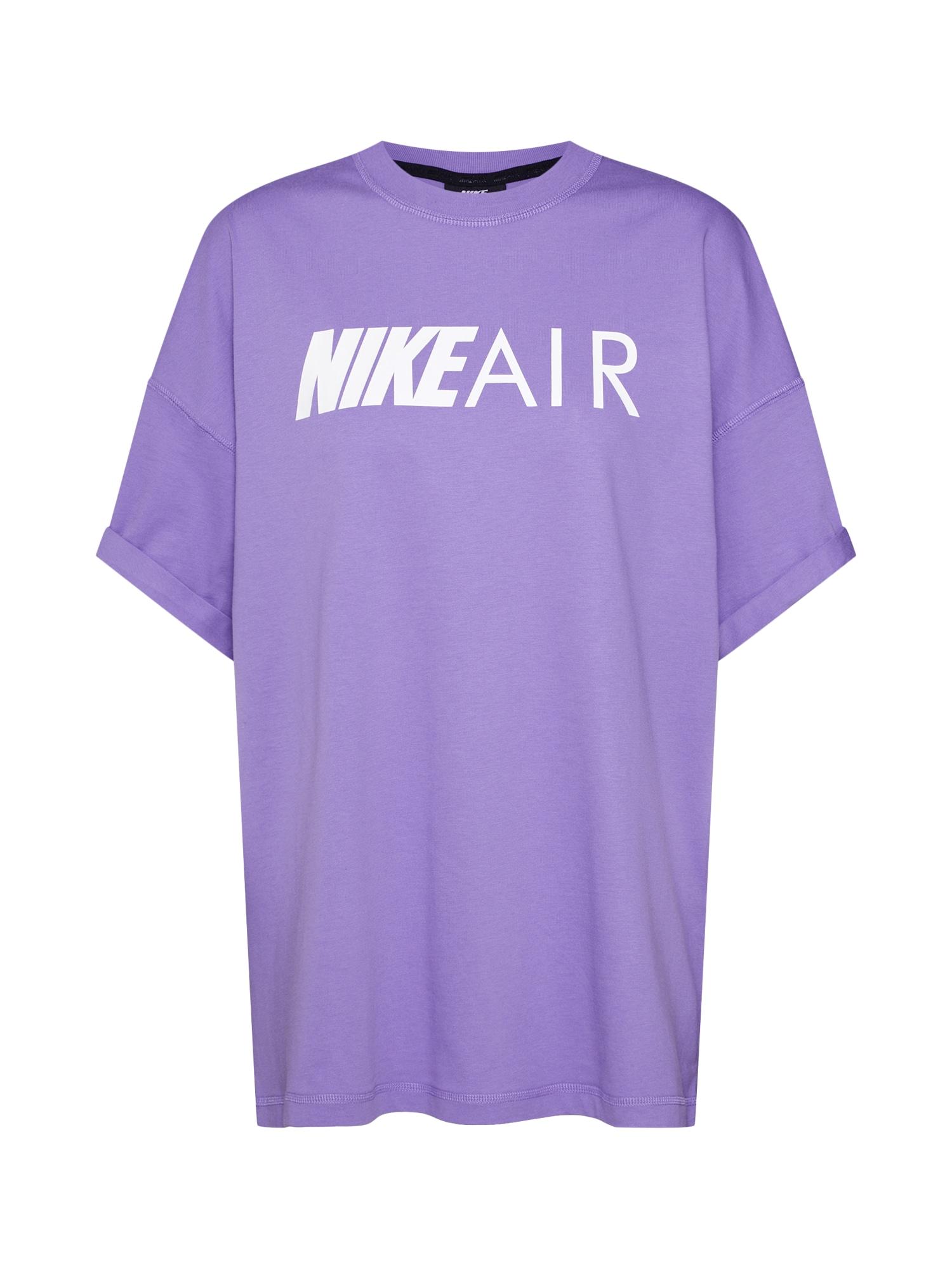 Oversized tričko Air BF fialová bílá Nike Sportswear