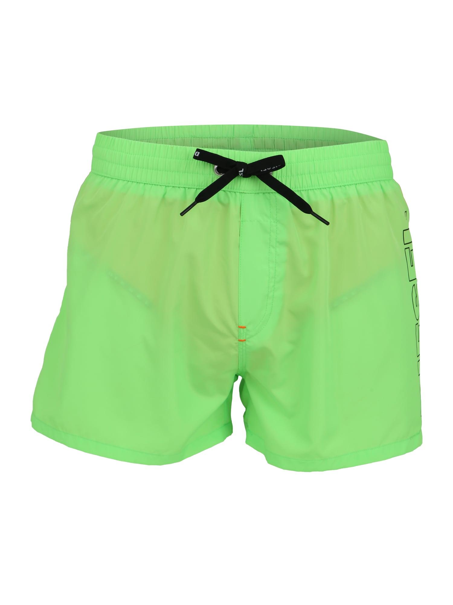 Plavecké šortky BMBX-SANDY zelená DIESEL