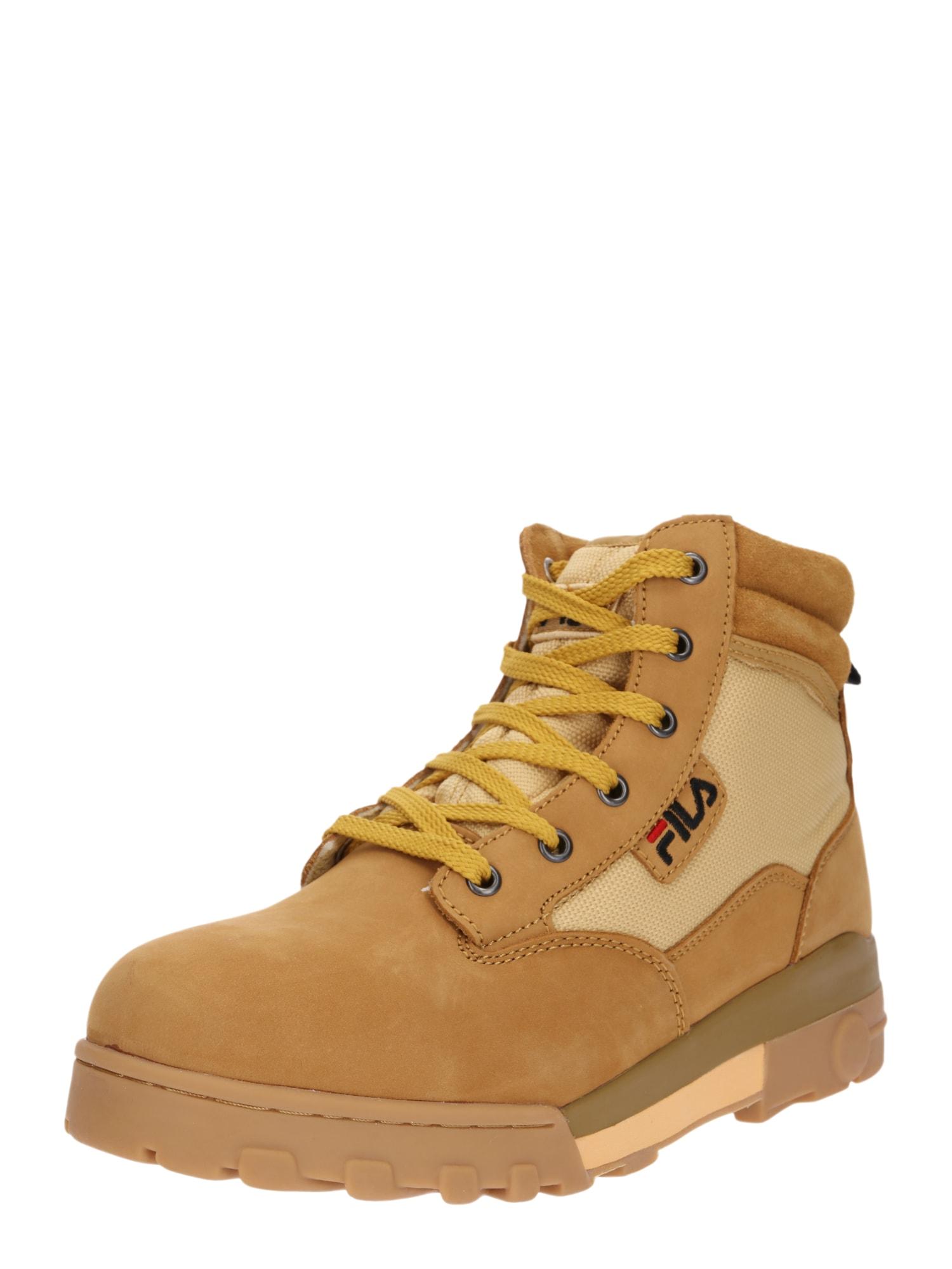 Šněrovací boty Grunge mid písková zlatě žlutá FILA