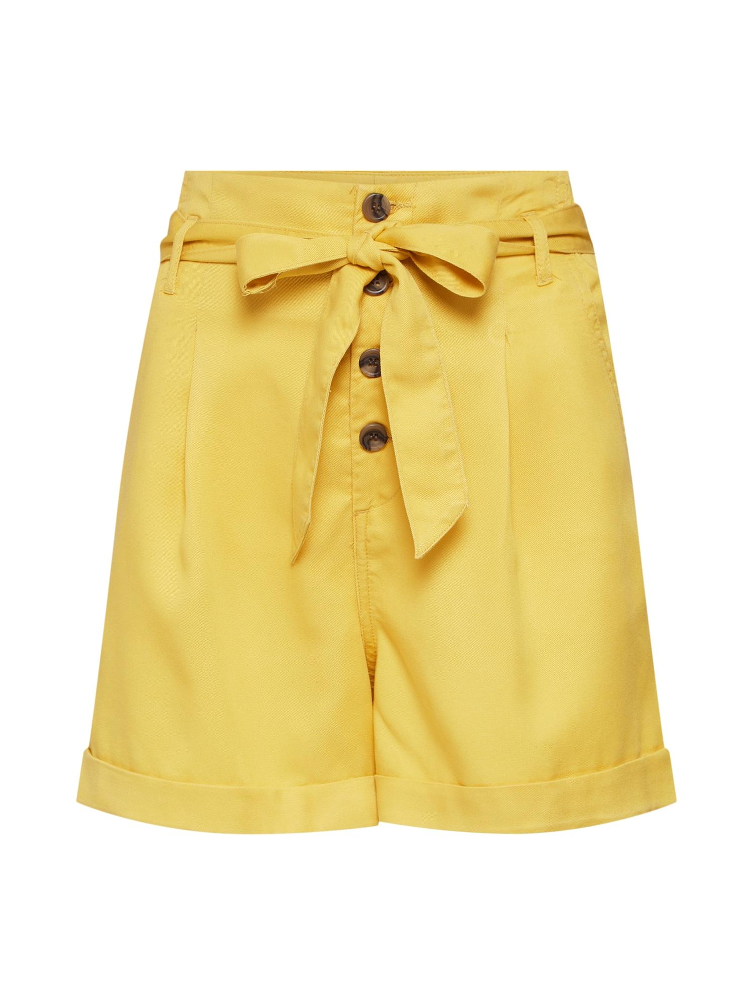 Kalhoty se sklady v pase onlSIRI HW BELT SHORTS PNT BJ14053 žlutá ONLY