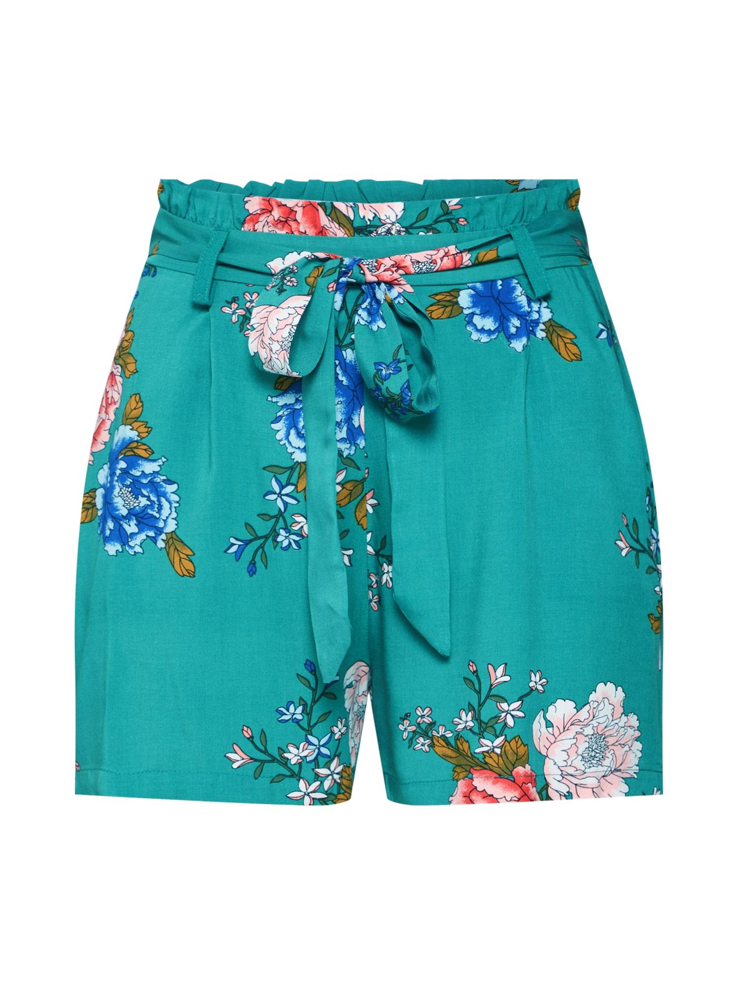 Kalhoty NOVA petrolejová mix barev ONLY