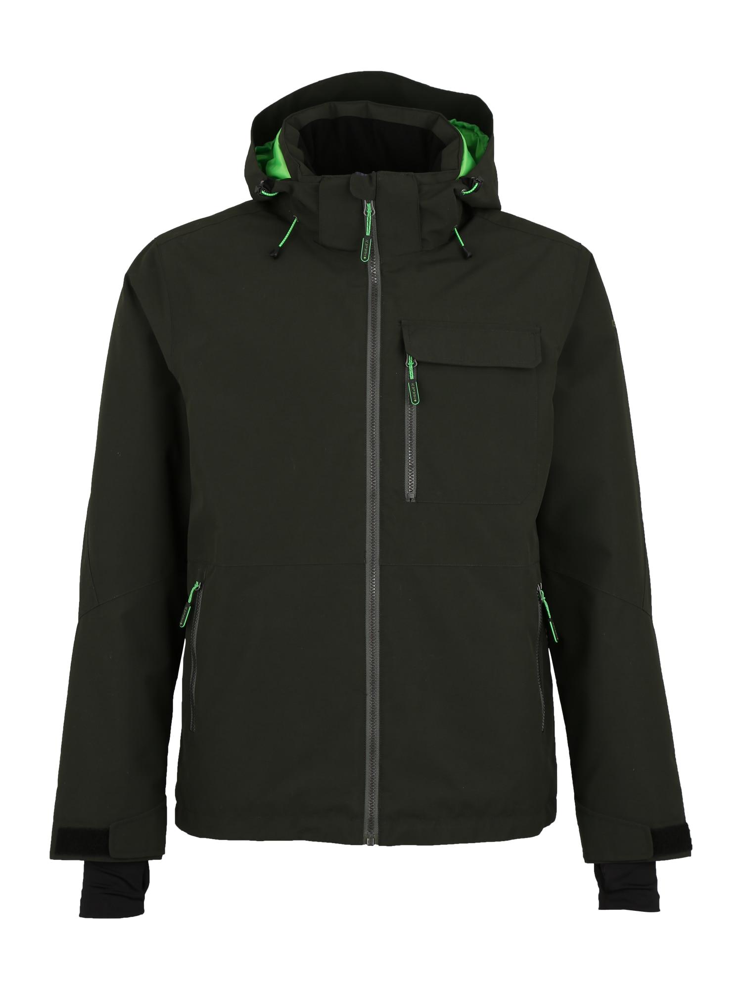 Outdoorová bunda KEVIN tmavě zelená ICEPEAK