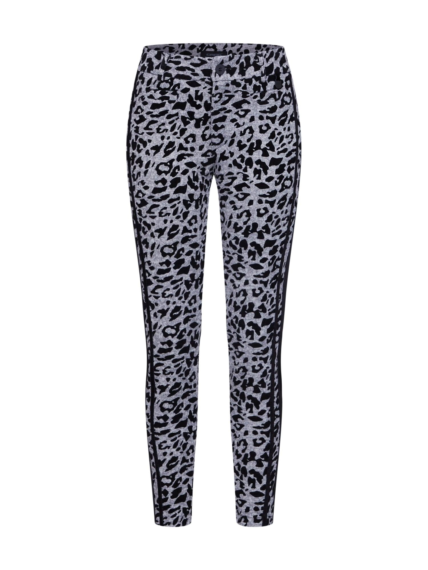 Kalhoty CATY - animalier flock print SKINNY šedý melír Gang