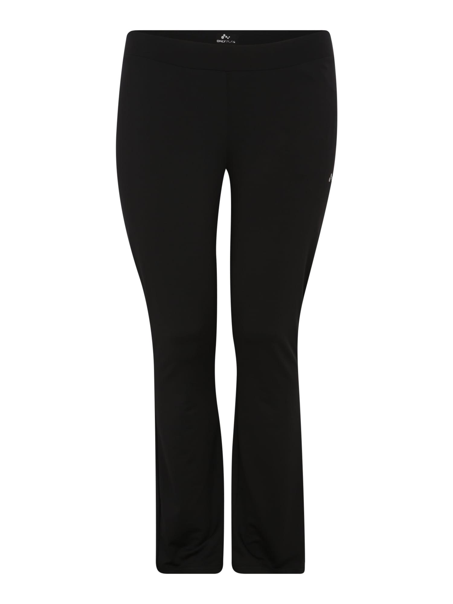 Sportovní kalhoty onpNICOLE černá Only Play Curvy