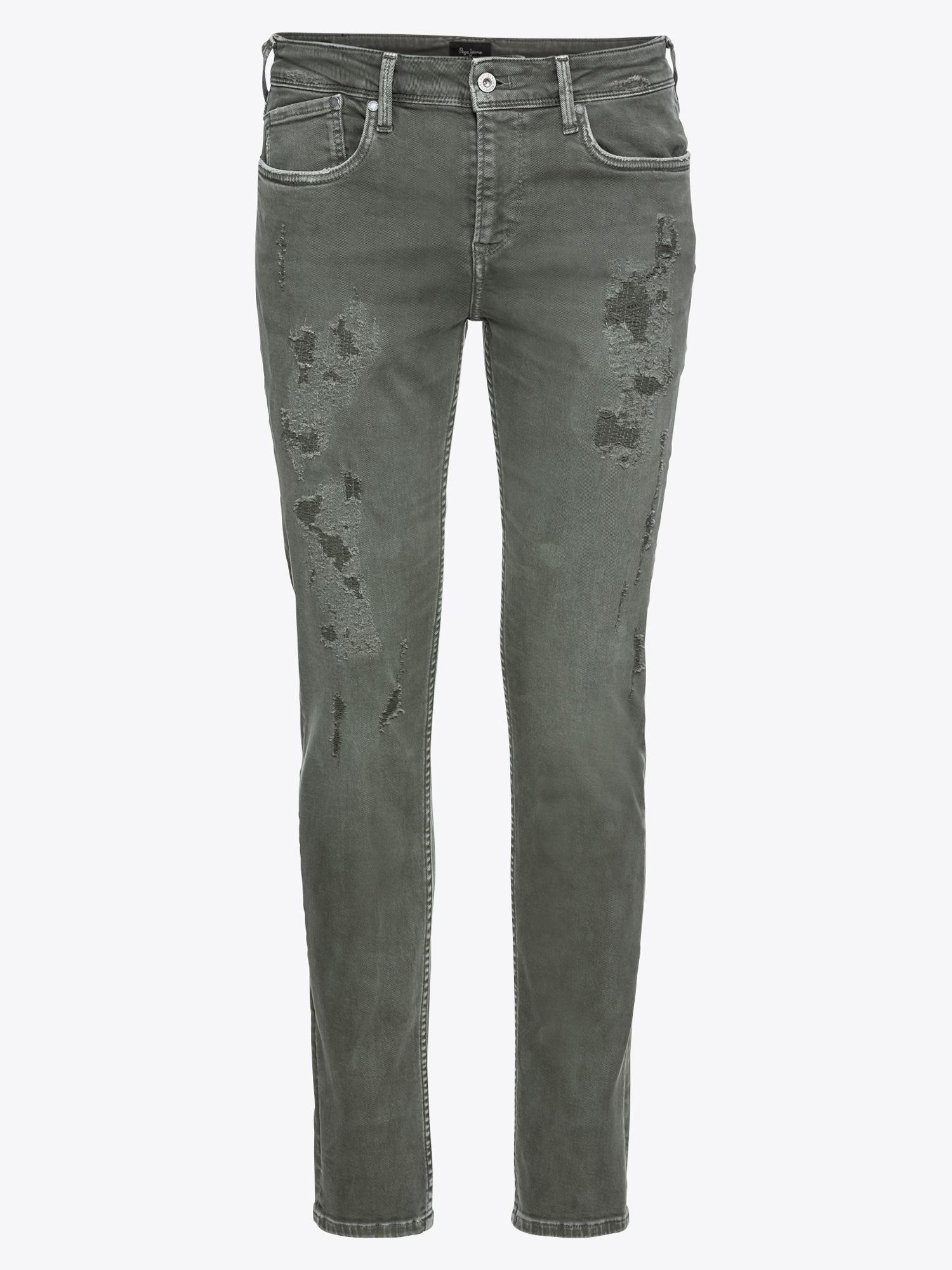Džíny HATCH DESTROY tmavě zelená Pepe Jeans