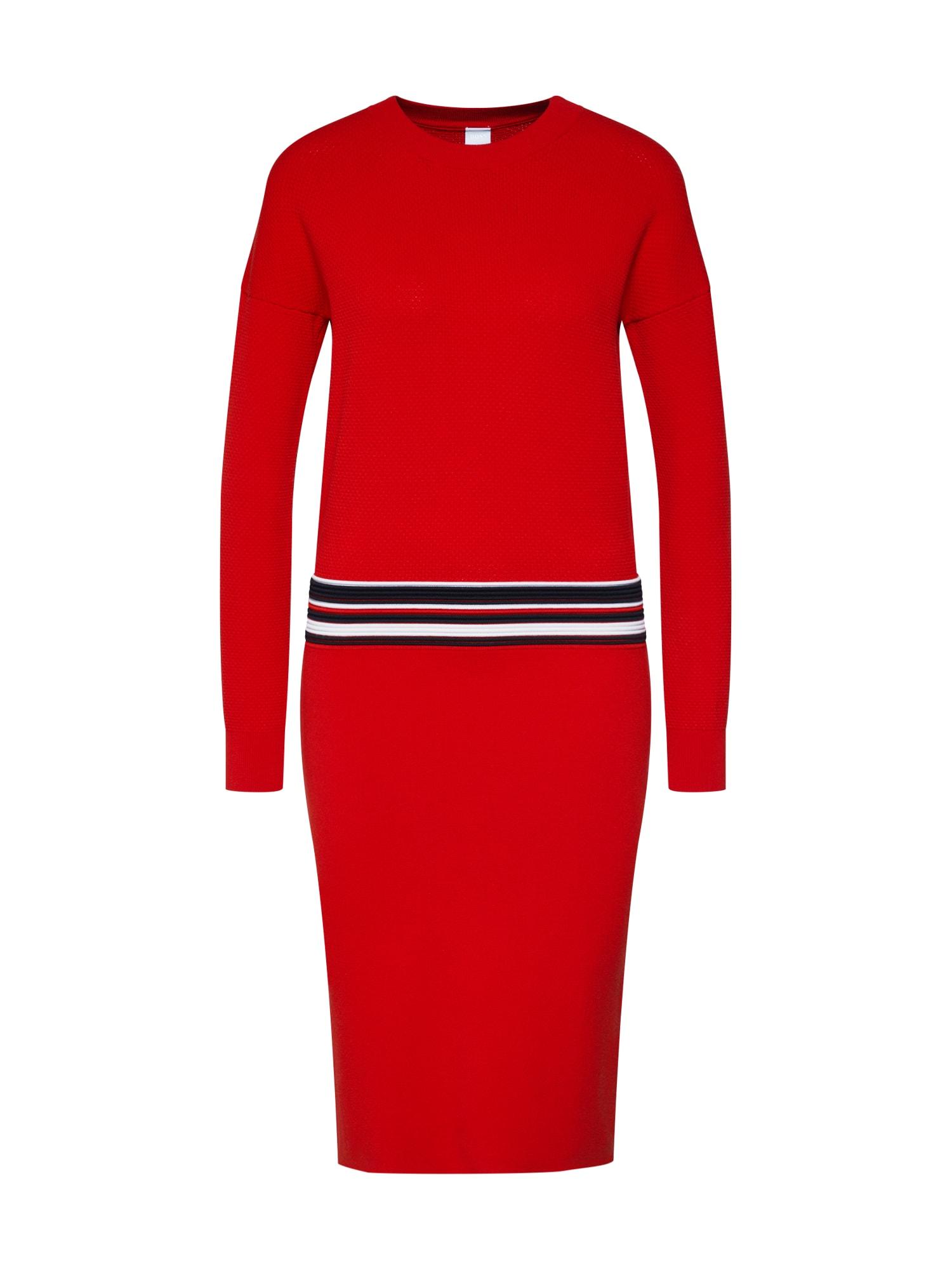 Úpletové šaty Iwearit červená BOSS