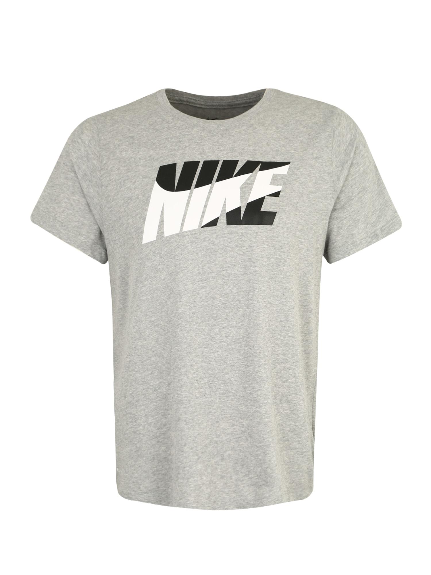 Funkční tričko M NK DRY DFC BLOCK šedá černá bílá NIKE