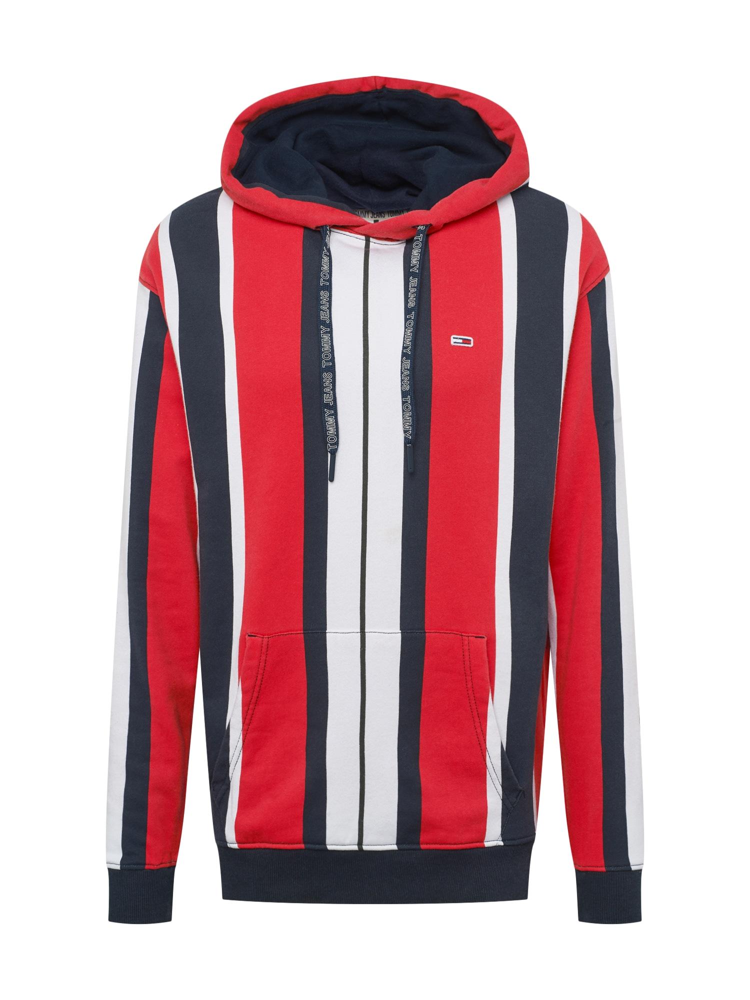 Mikina tmavě modrá červená bílá Tommy Jeans