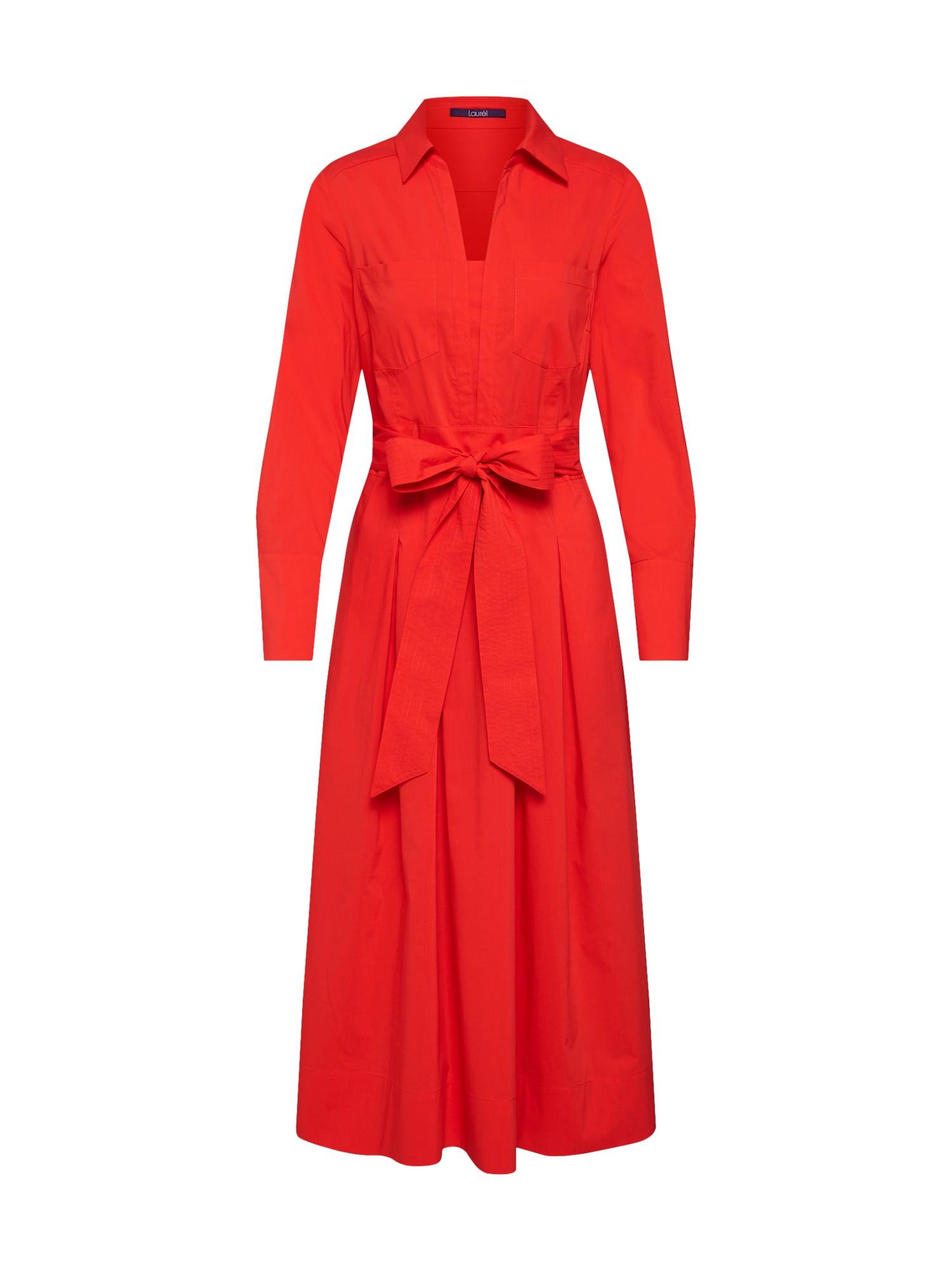 Košilové šaty 12007 červená LAUREL