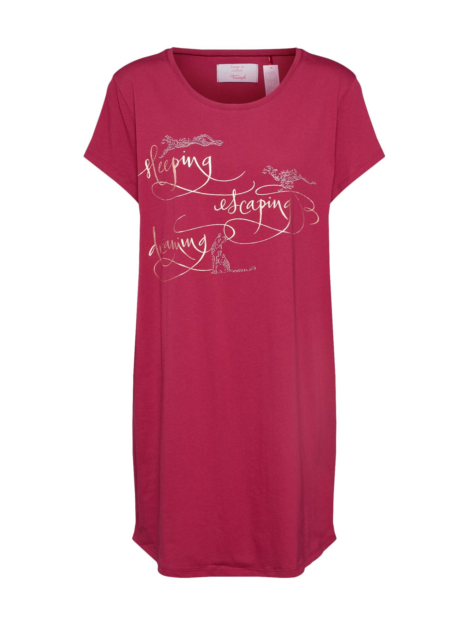 Tričko na spaní rubínově červená TRIUMPH