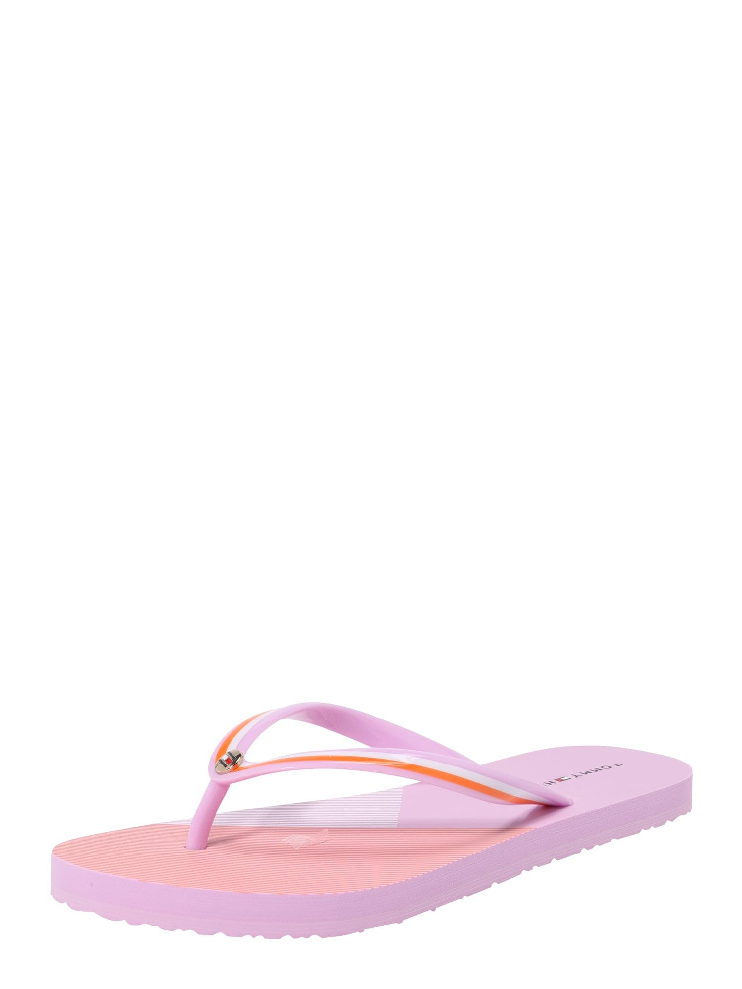 Žabky fialová oranžová pink černá bílá TOMMY HILFIGER