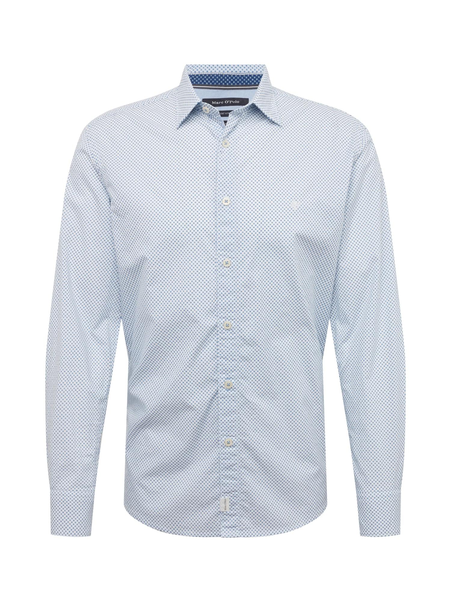 Marc OPolo Košile modrá bílá Marc O'Polo