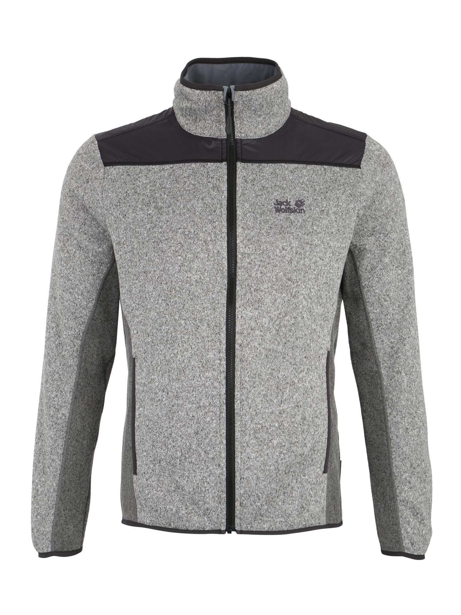 Sportovní bunda ELK LODGE světle šedá černá JACK WOLFSKIN