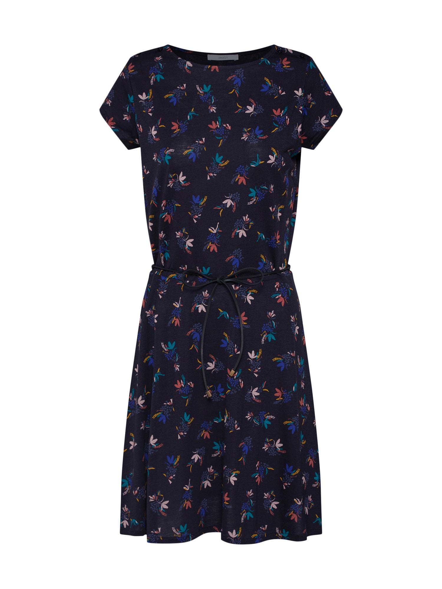 Šaty modrá mix barev Sessun