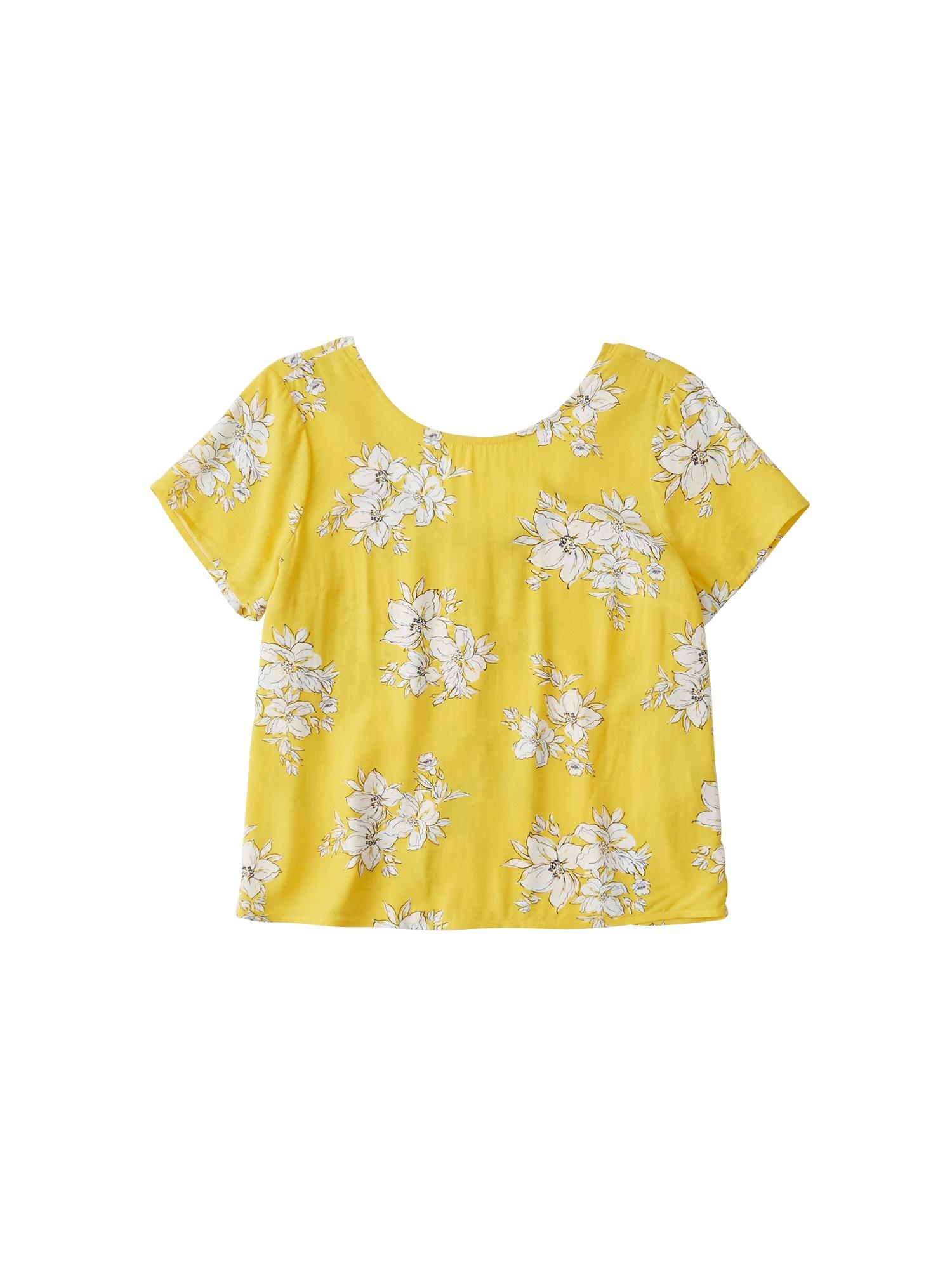 Tričko žlutá Abercrombie & Fitch