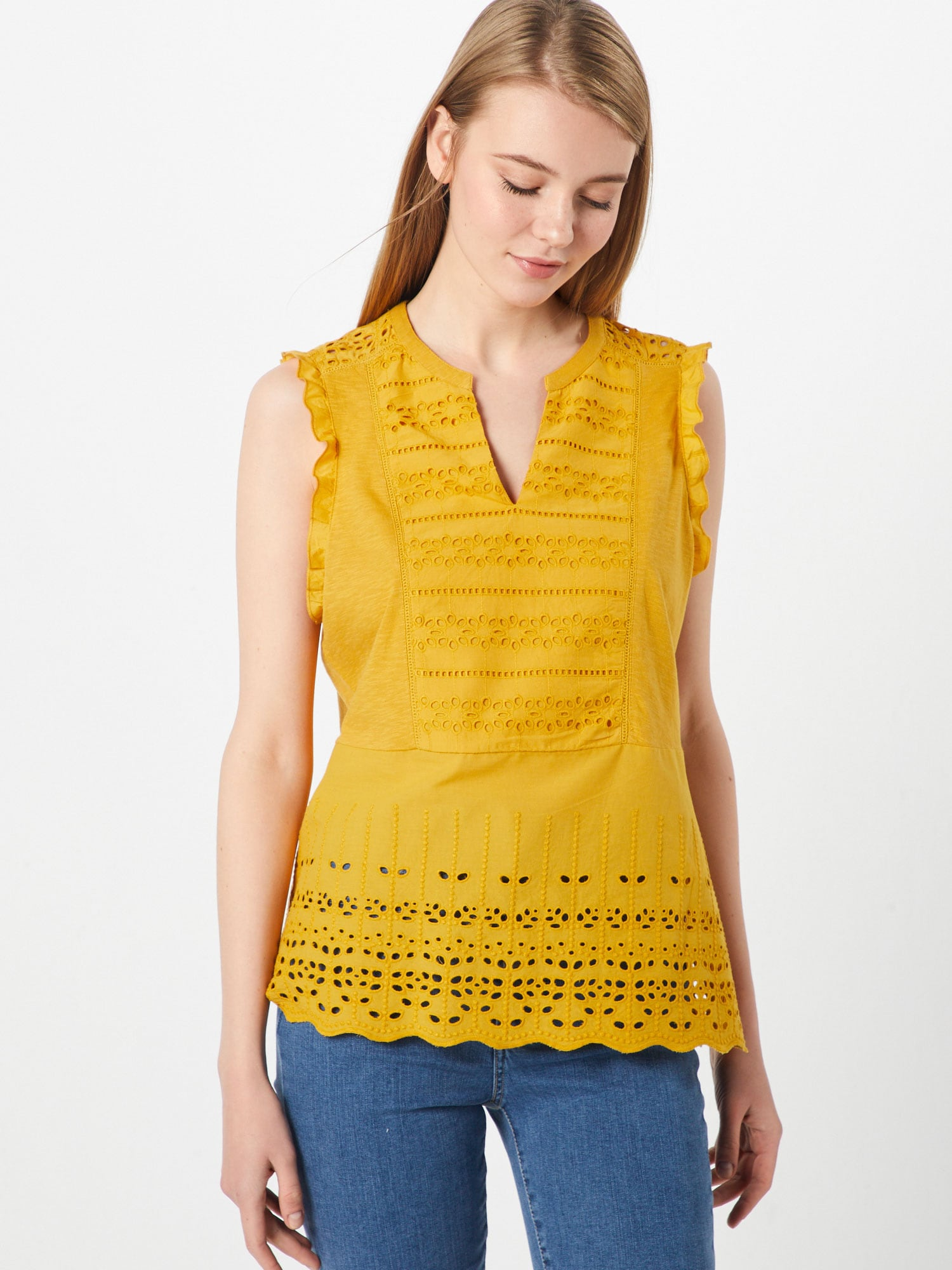 Blouse 'Embro Curry T'