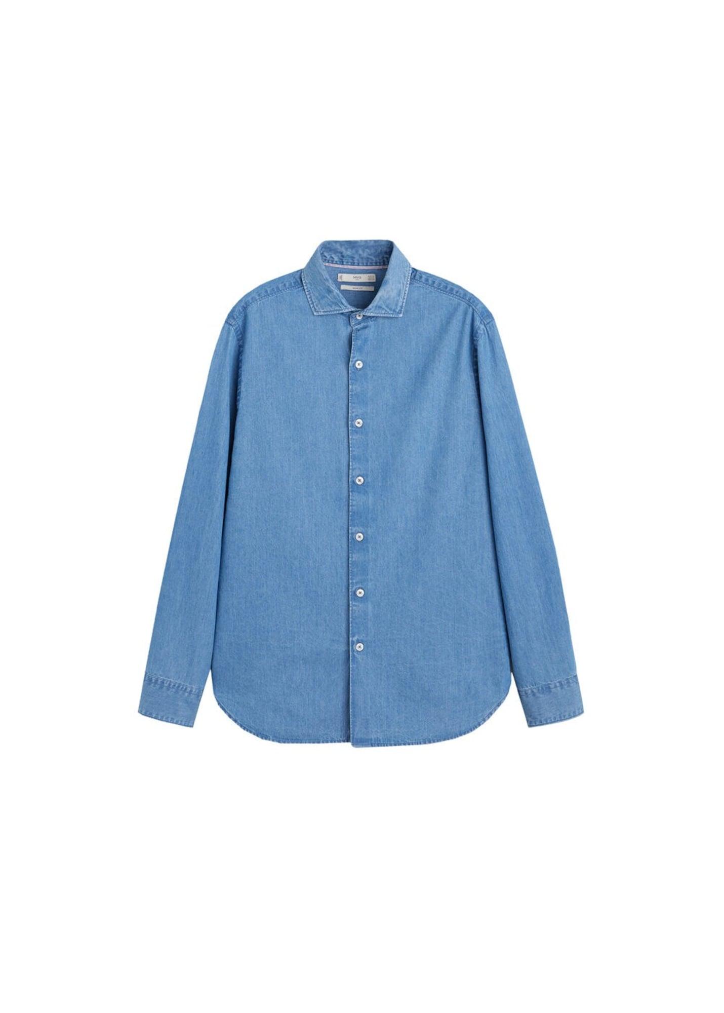 MANGO MAN Košile 'Chambre'  modrá džínovina