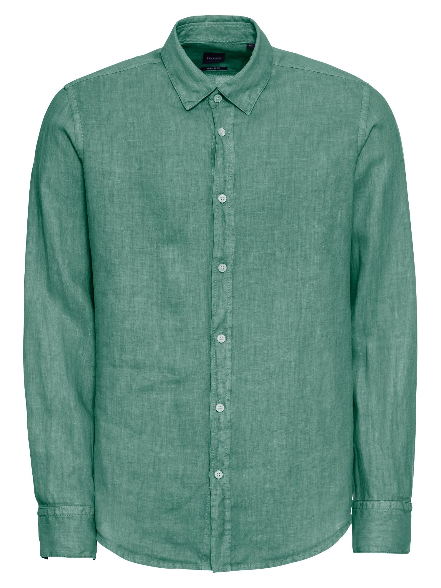 Košile Relegant_1 10169252 01 tmavě zelená BOSS