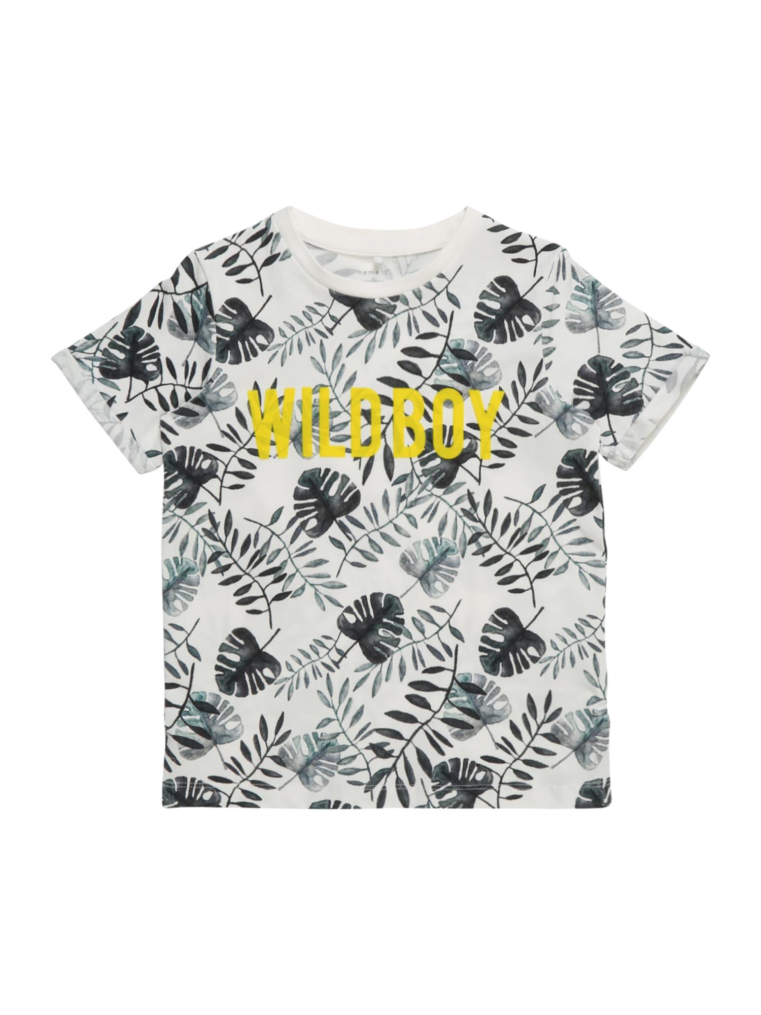 Tričko NMMFACOOL žlutá smaragdová bílá NAME IT