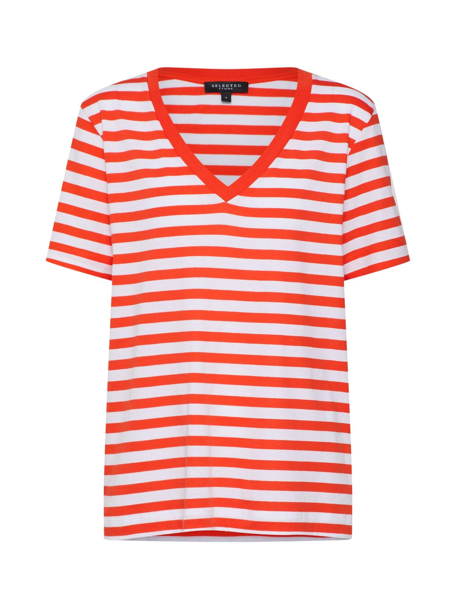 Tričko červená bílá SELECTED FEMME