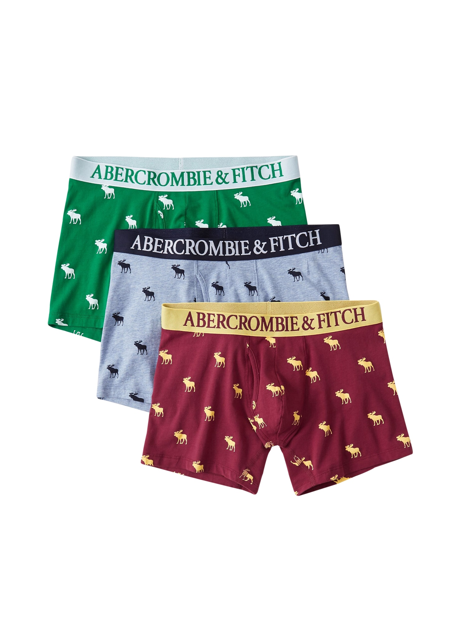 Boxerky BTS19-FALL TRNK APPLES MULTIPACK 1CC mix barev Abercrombie & Fitch