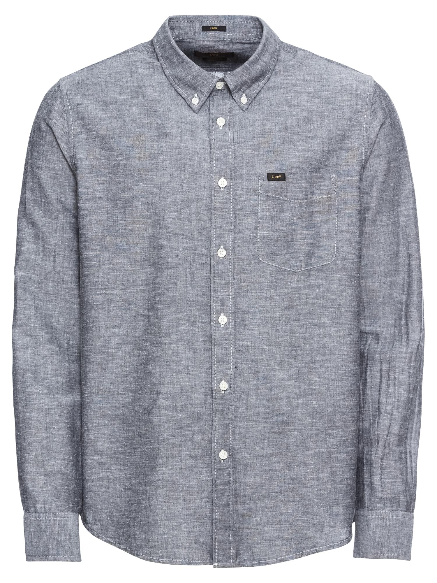 Košile šedý melír Lee